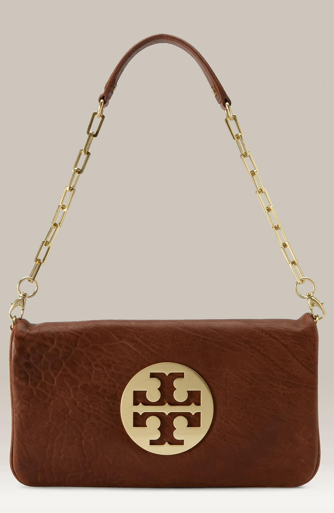 Main Image - Tory Burch 'Reva' Pebbled Leather Clutch