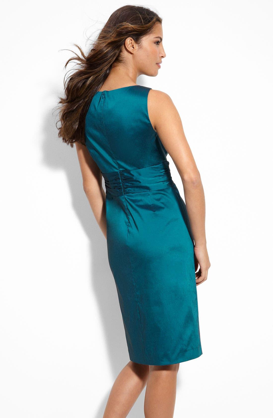 Alternate Image 2  - Eliza J Jewel Waist Taffeta Sheath Dress