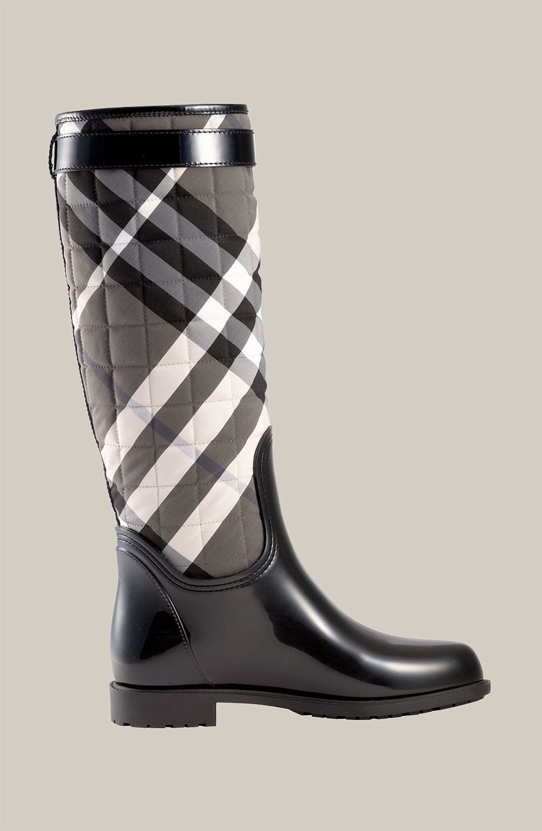 Alternate Image 2  - Burberry Quilted Check Print Rain Boot