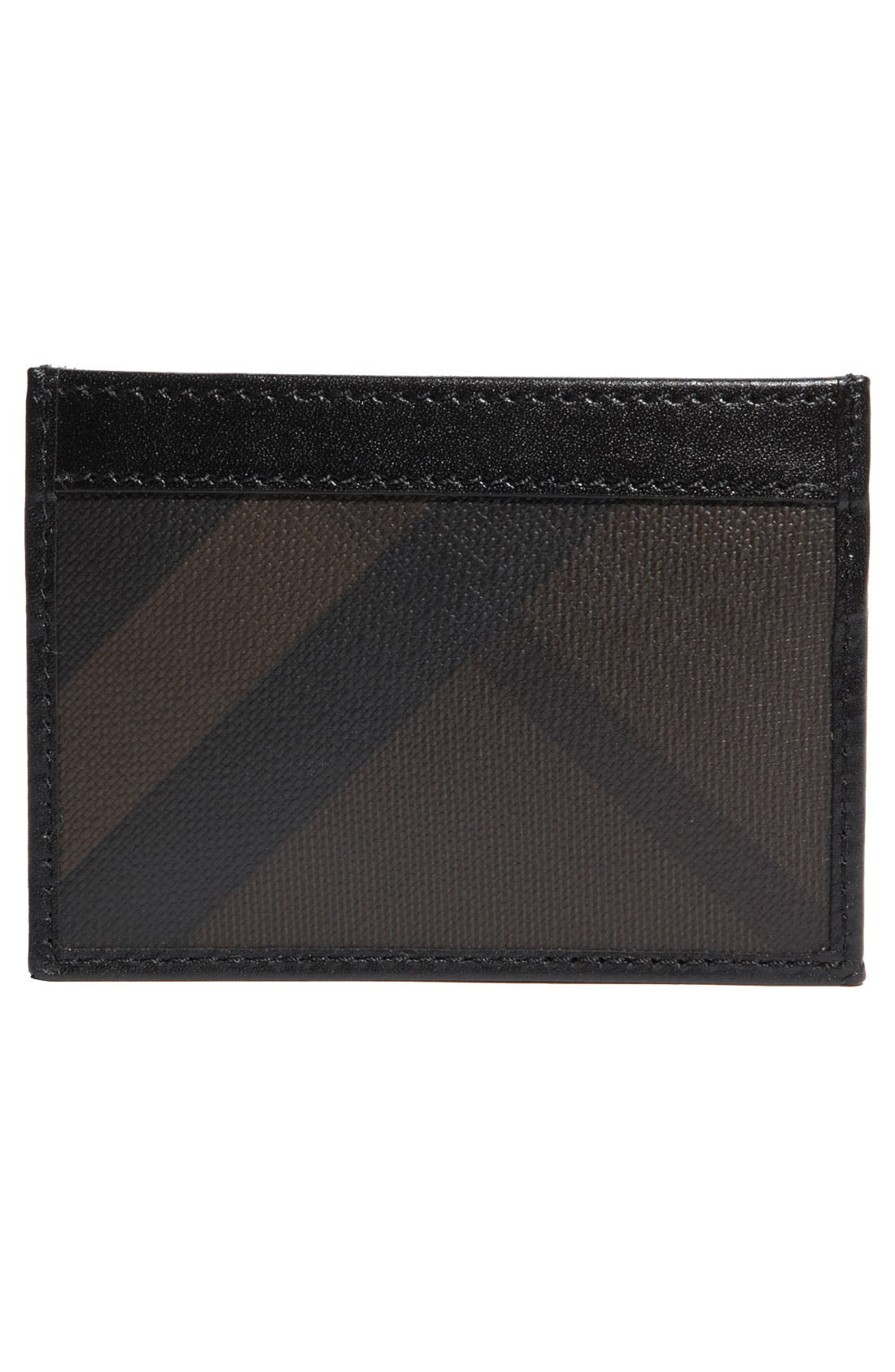 Alternate Image 2  - Burberry Check Card Case