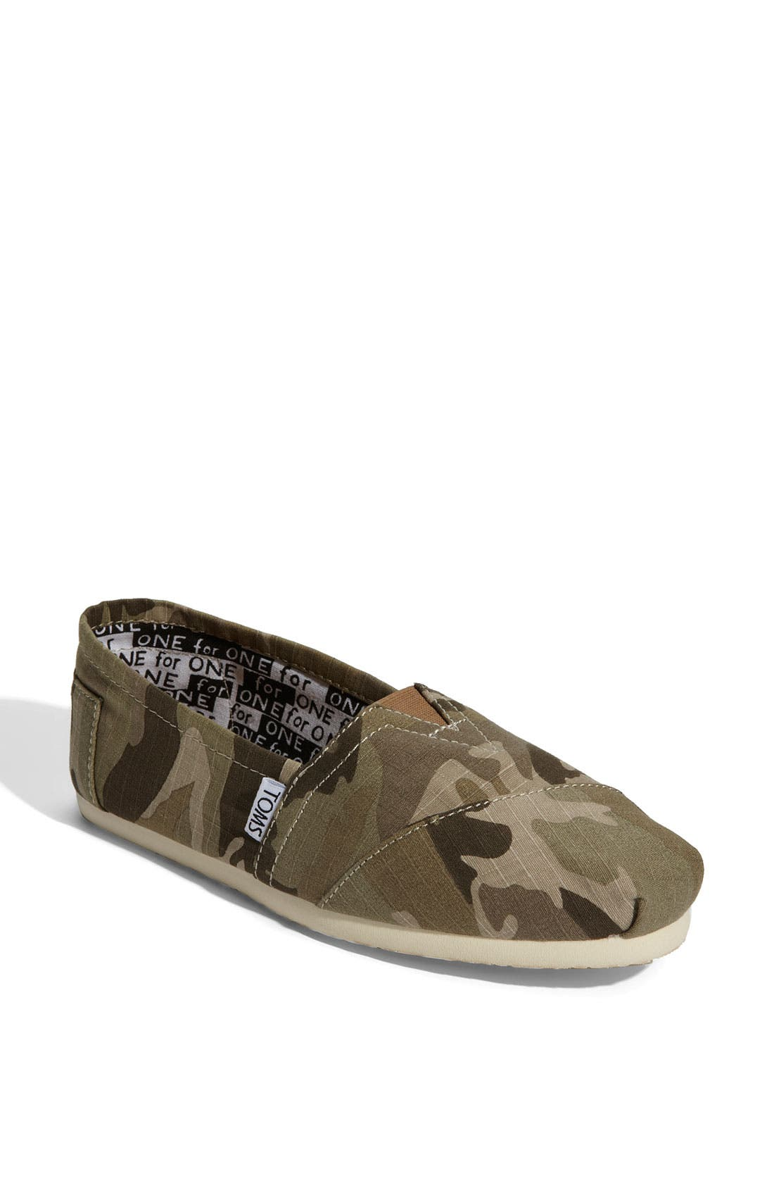 Main Image - TOMS 'Classic - Camo' Slip-On (Women) (Nordstrom Exclusive)