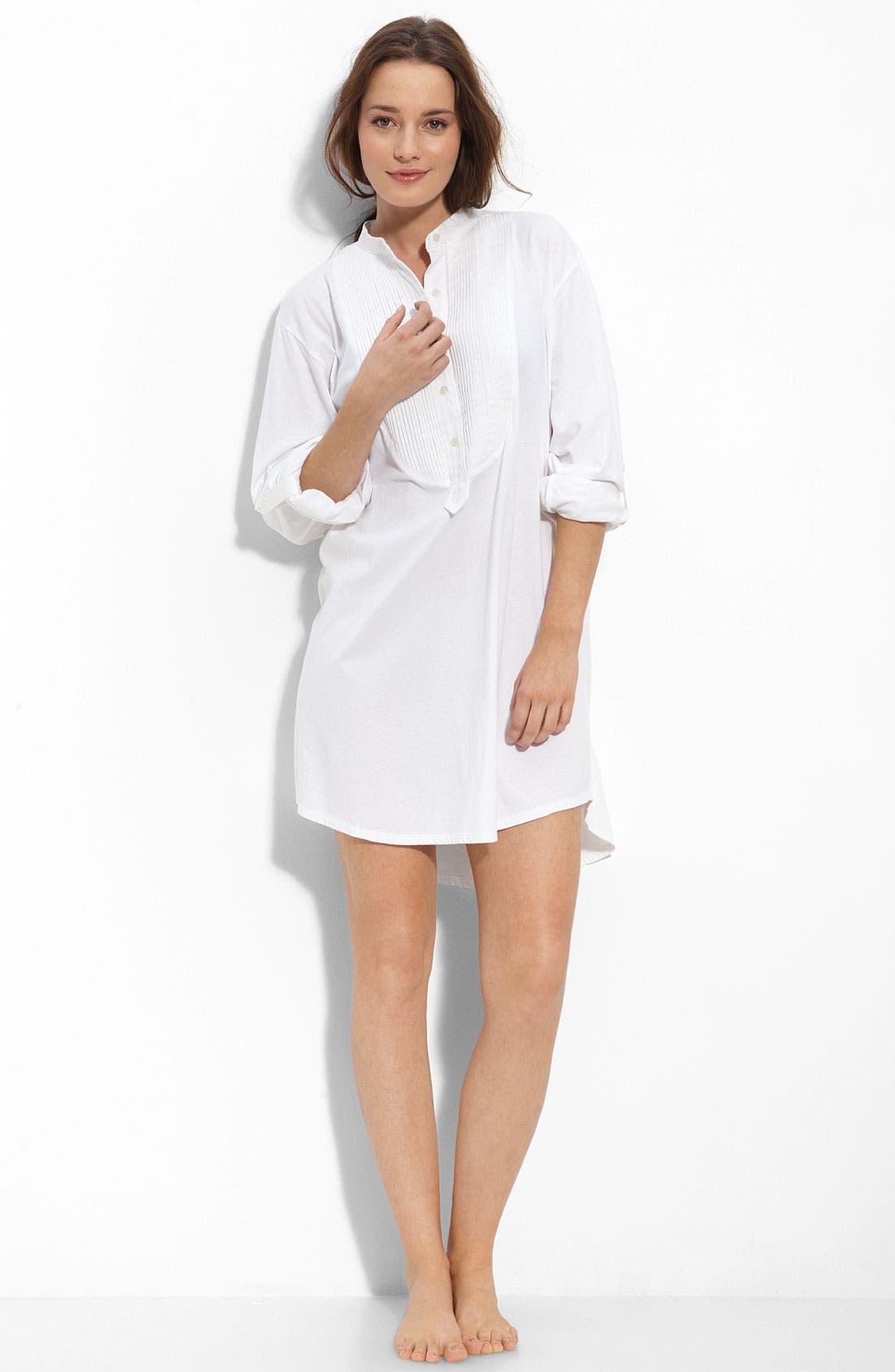 Alternate Image 1 Selected - Lauren Intimates 'Grandfather' Tuxedo Bib Sleep Shirt