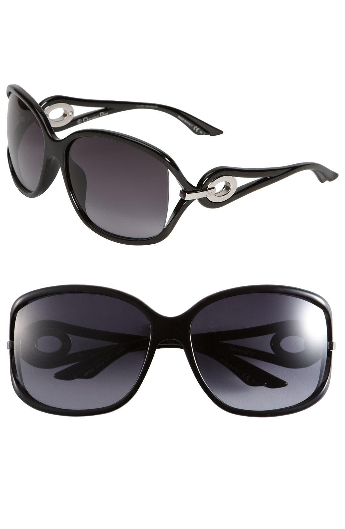 Alternate Image 1 Selected - Dior 'Volute 2' Open Temple Sunglasses
