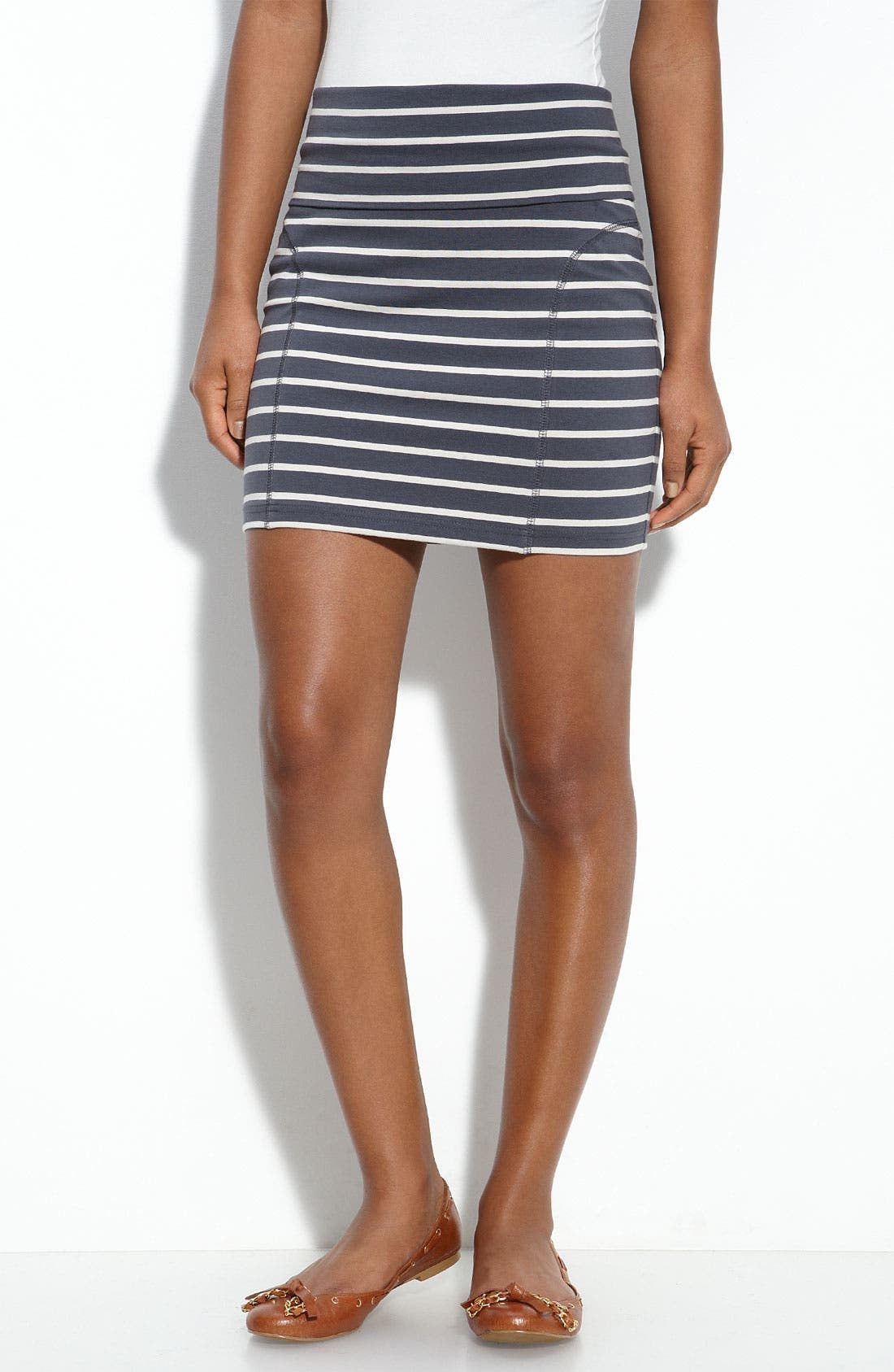 Main Image - Frenchi® Foldover Waist Miniskirt (Juniors)