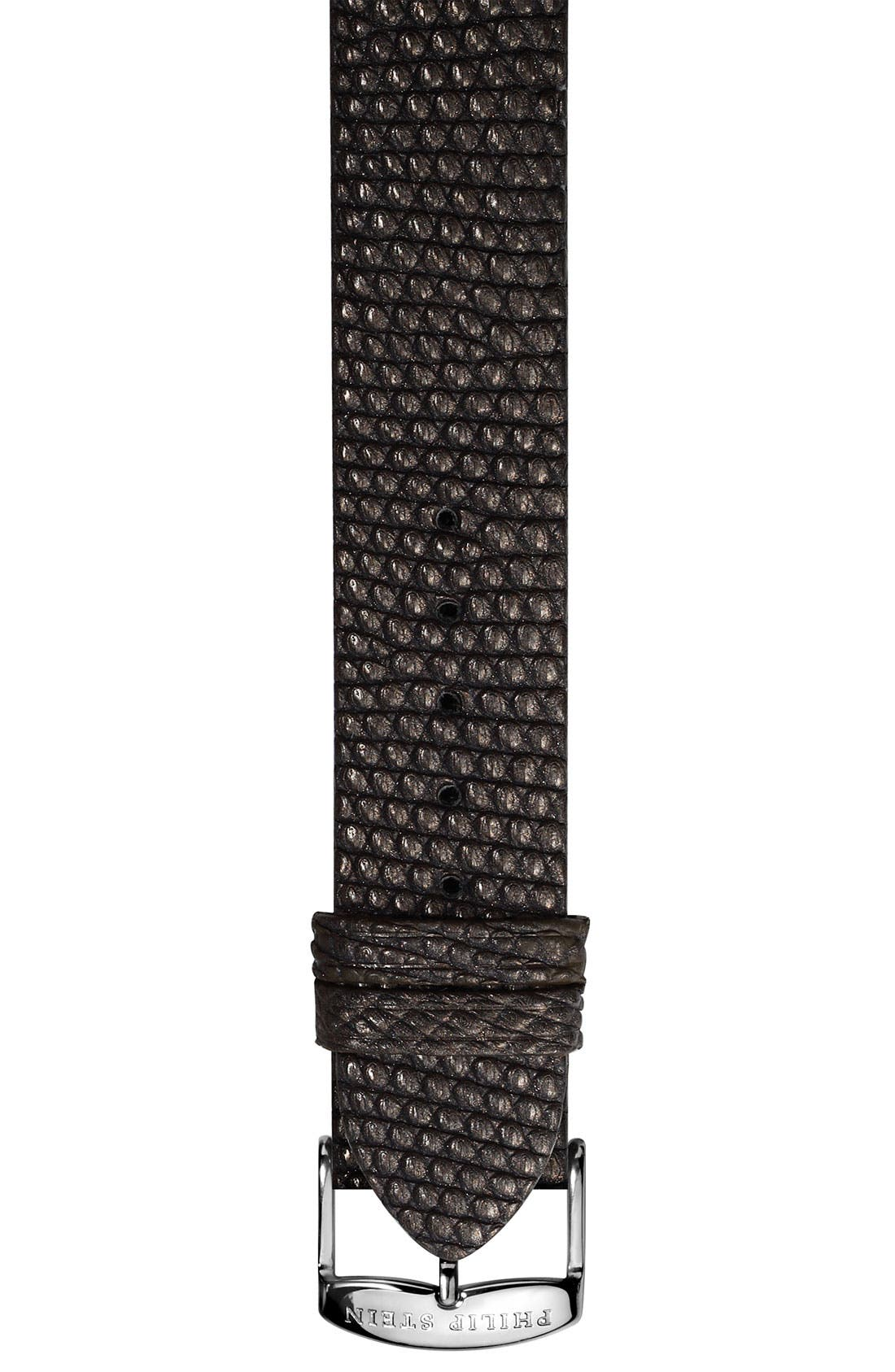 Main Image - Philip Stein® 20mm Metallic Lizard Skin Watch Strap