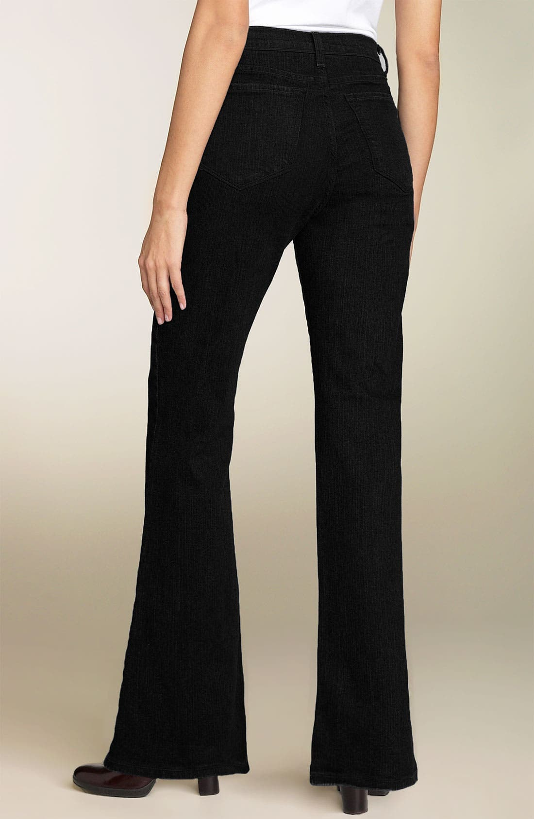 Alternate Image 2  - NYDJ 'Sarah' Stretch Bootcut Jeans (Black) (Long)