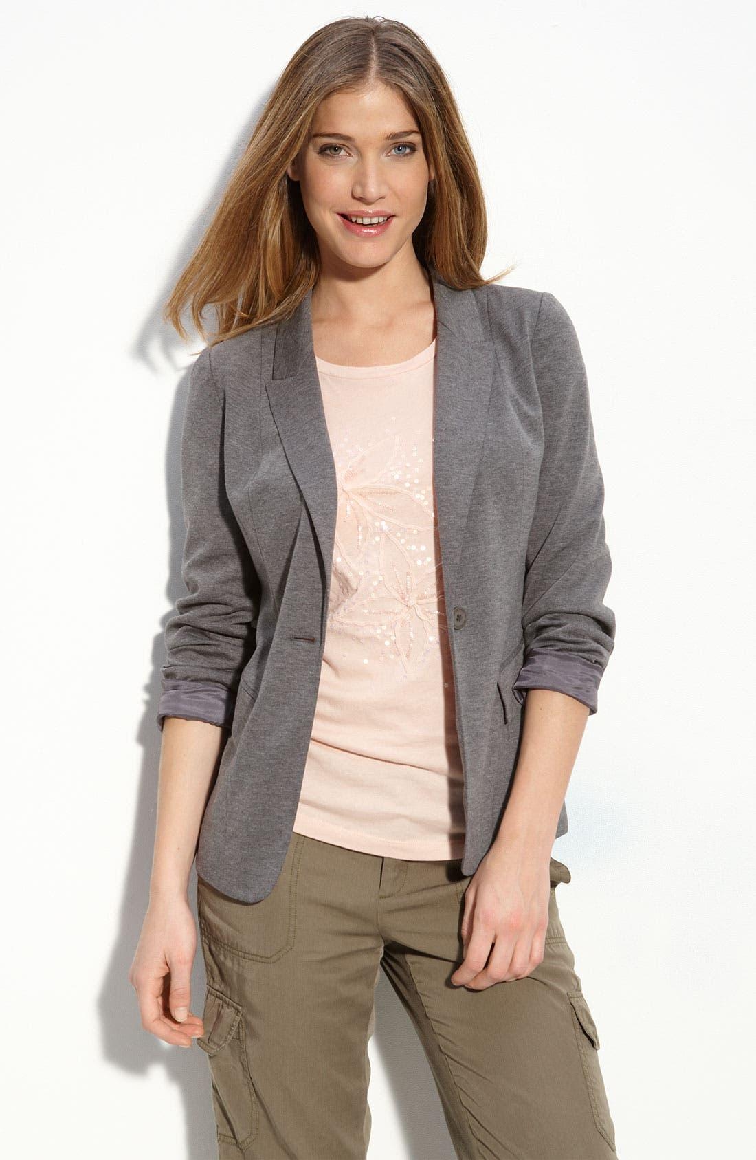 Alternate Image 2  - Halogen® Jersey Boyfriend Blazer