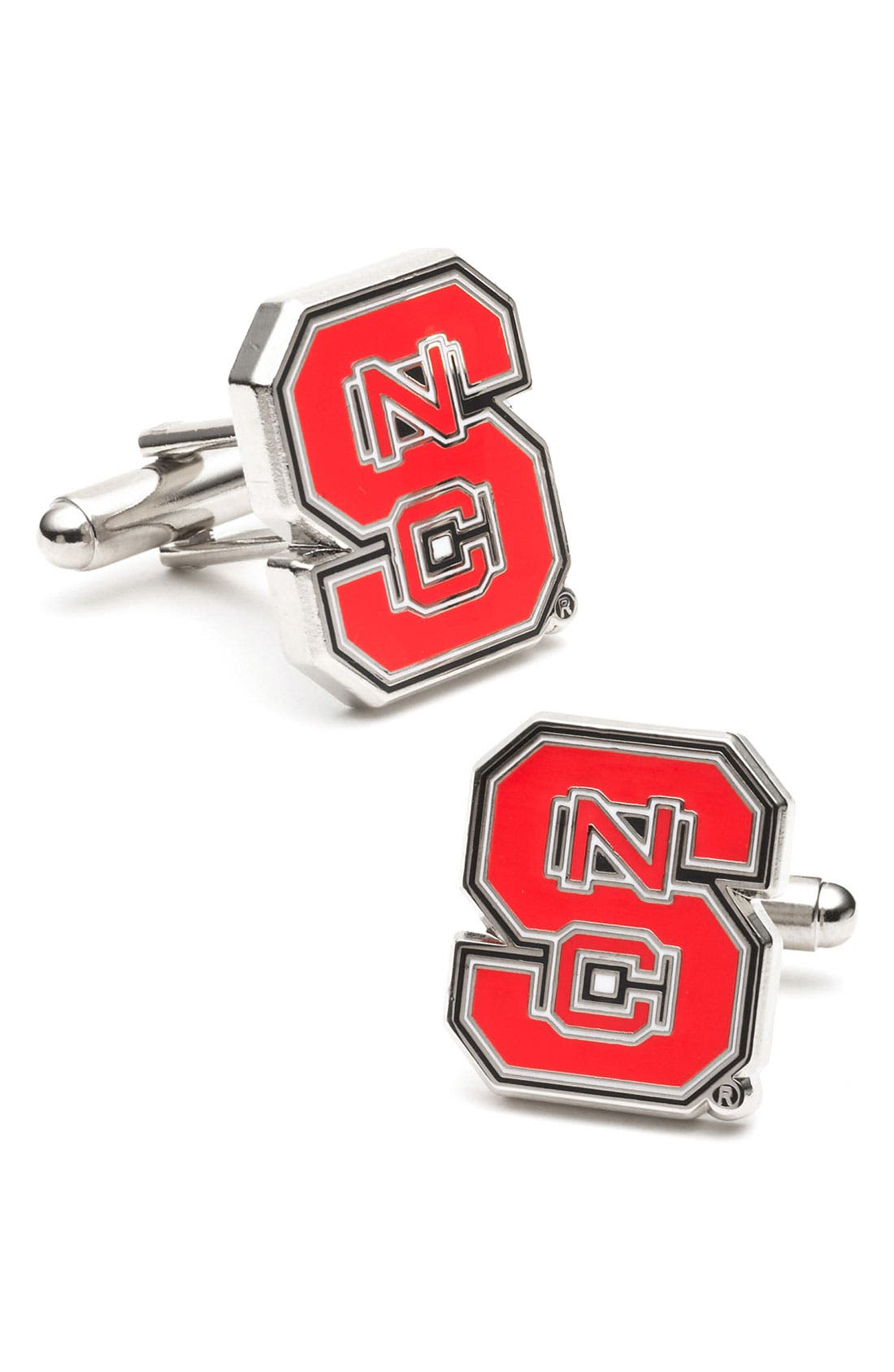 Main Image - Cufflinks, Inc. 'North Carolina State Wolfpack' Cuff Links