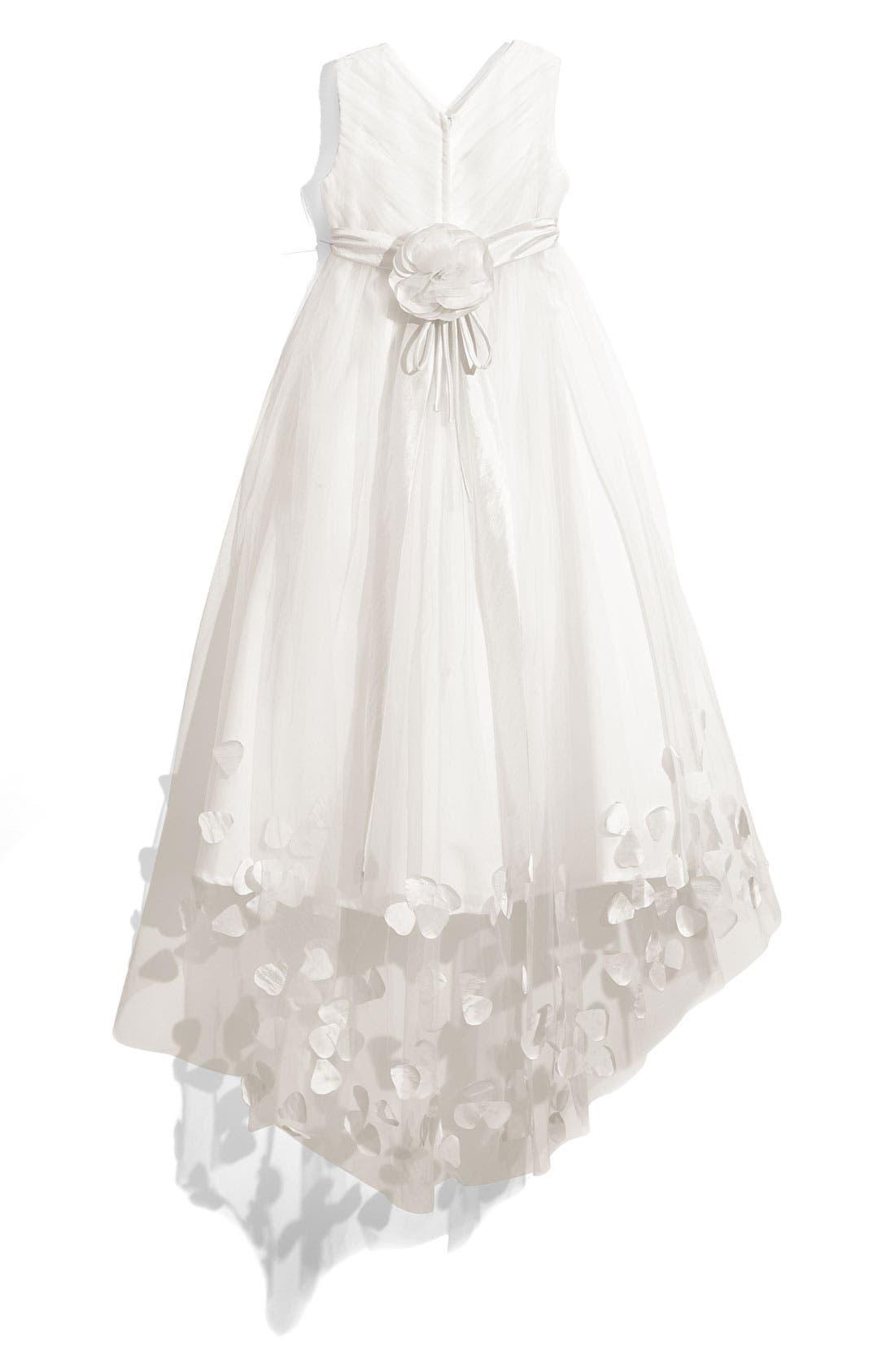 Alternate Image 2  - Joan Calabrese for Mon Cheri Tulle & Taffeta Floor Length Dress (Little Girls & Big Girls)
