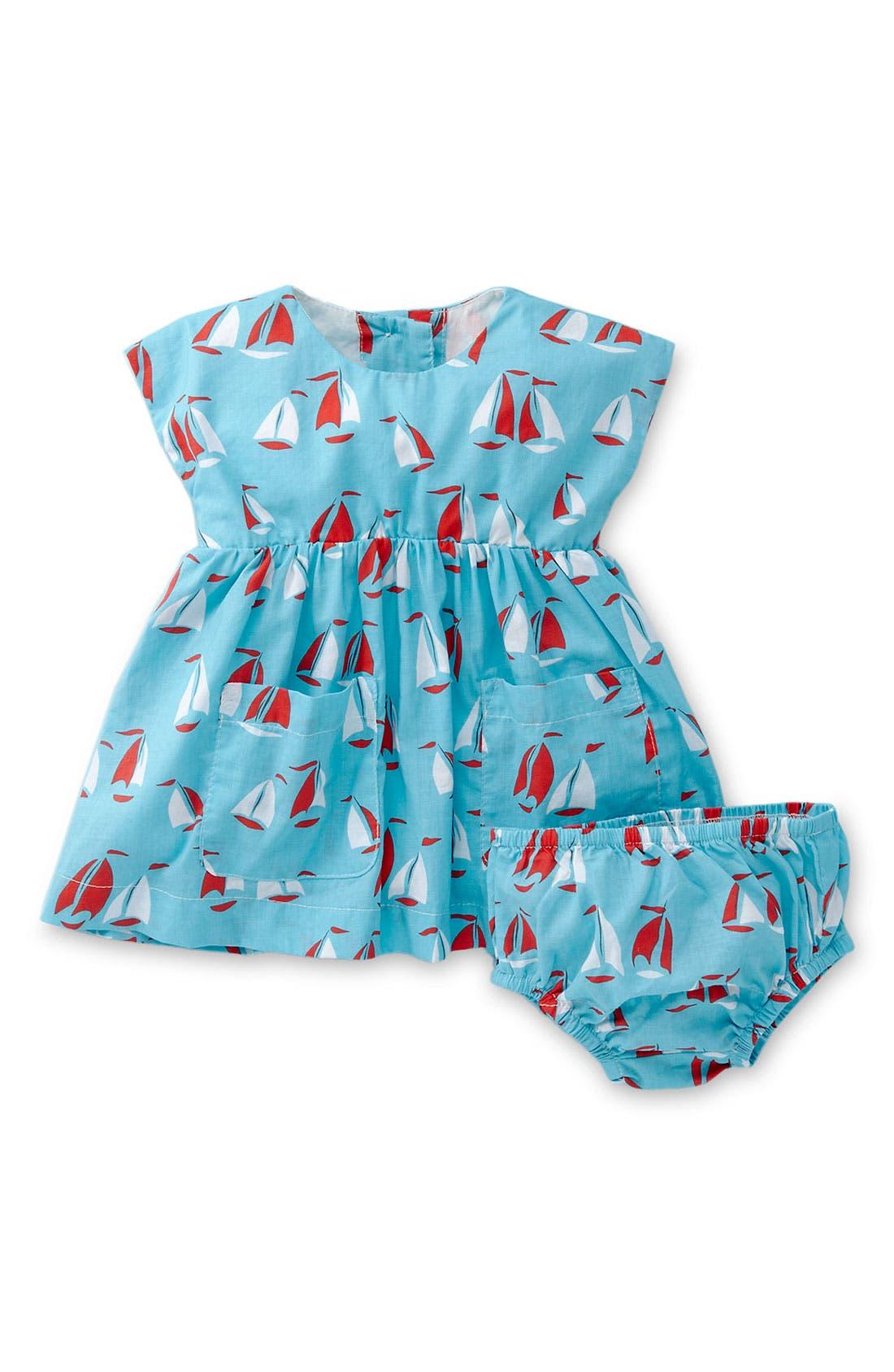 Alternate Image 1 Selected - Mini Boden 'Fifties' Dress (Infant)