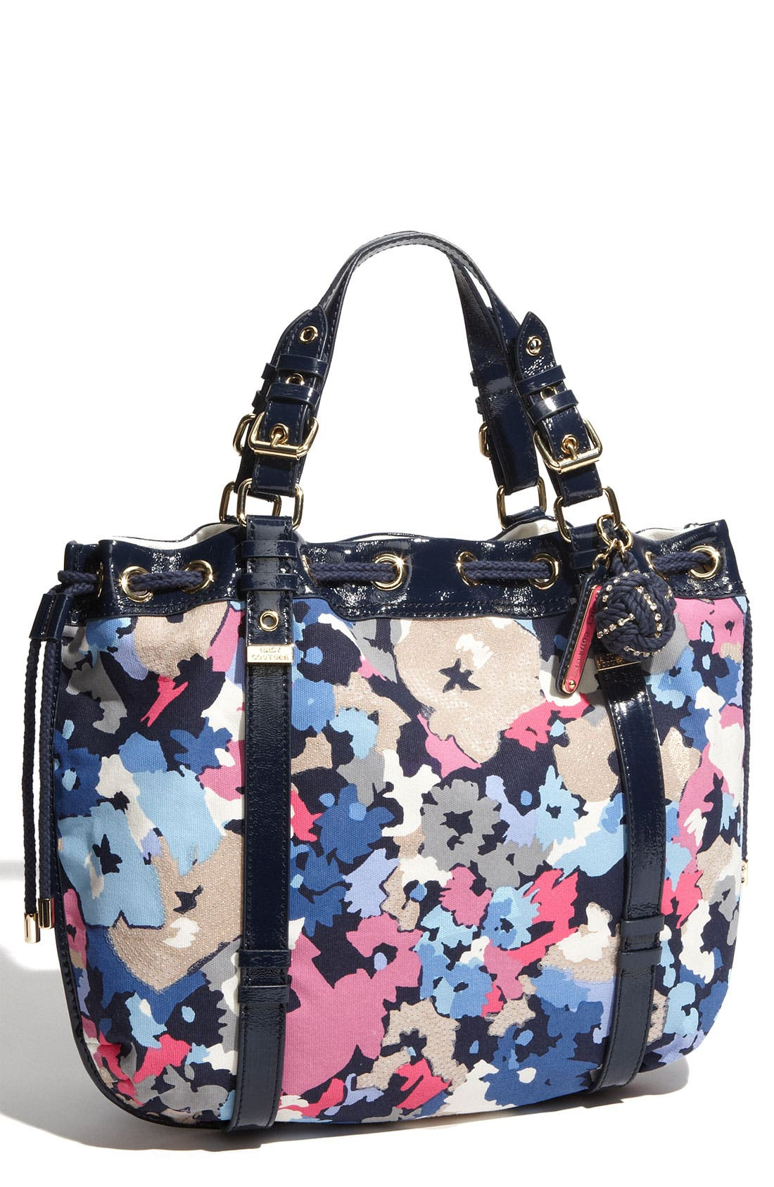Alternate Image 1 Selected - Juicy Couture 'Beverly' Floral Print Canvas Tote