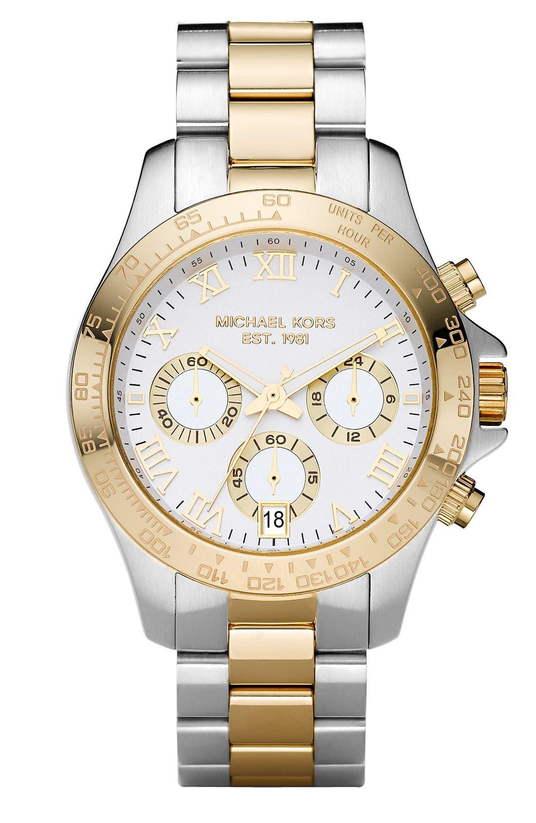 Main Image - Michael Kors 'Small Layton' Chronograph Watch, 38mm