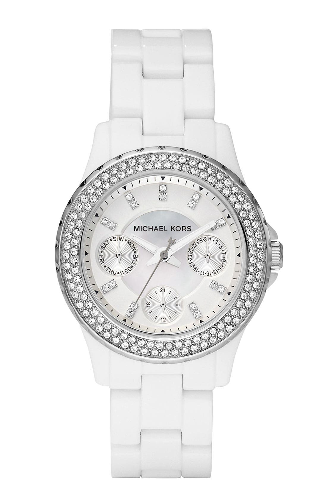 Alternate Image 1 Selected - Michael Kors 'Small Madison' Multifunction Watch