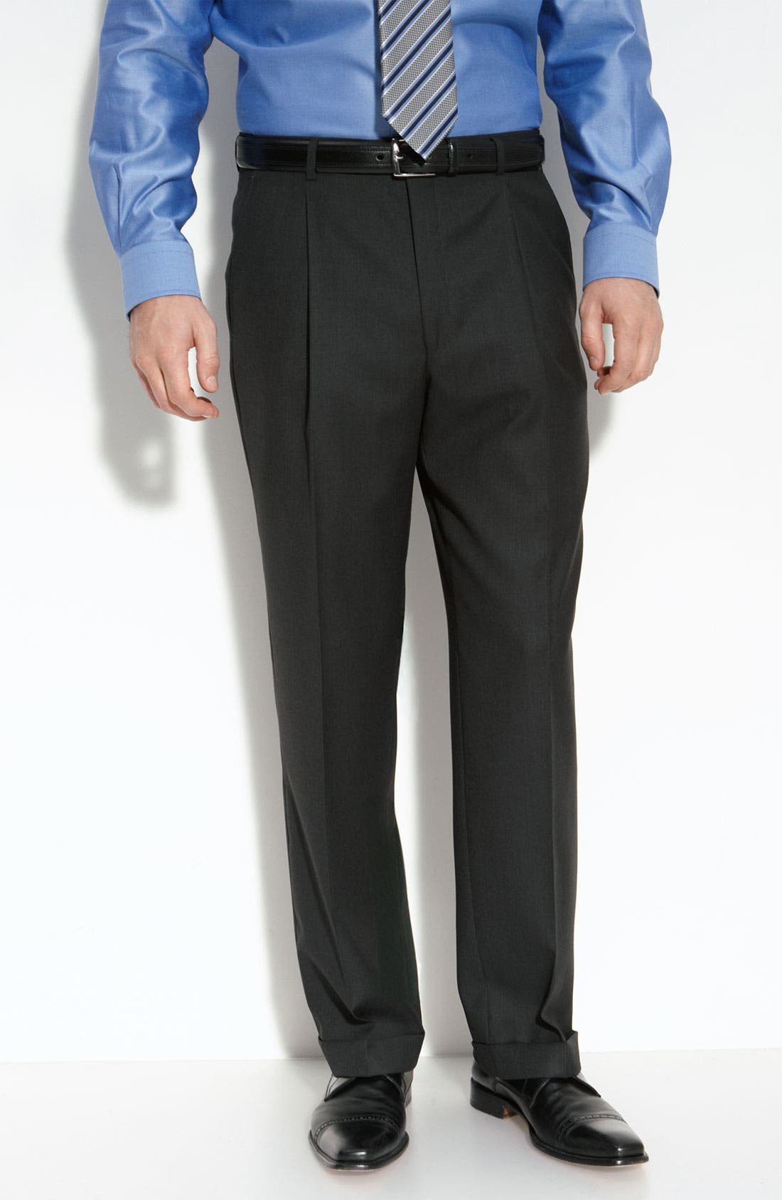 Alternate Image 5  - Hickey Freeman Charcoal Worsted Wool Suit