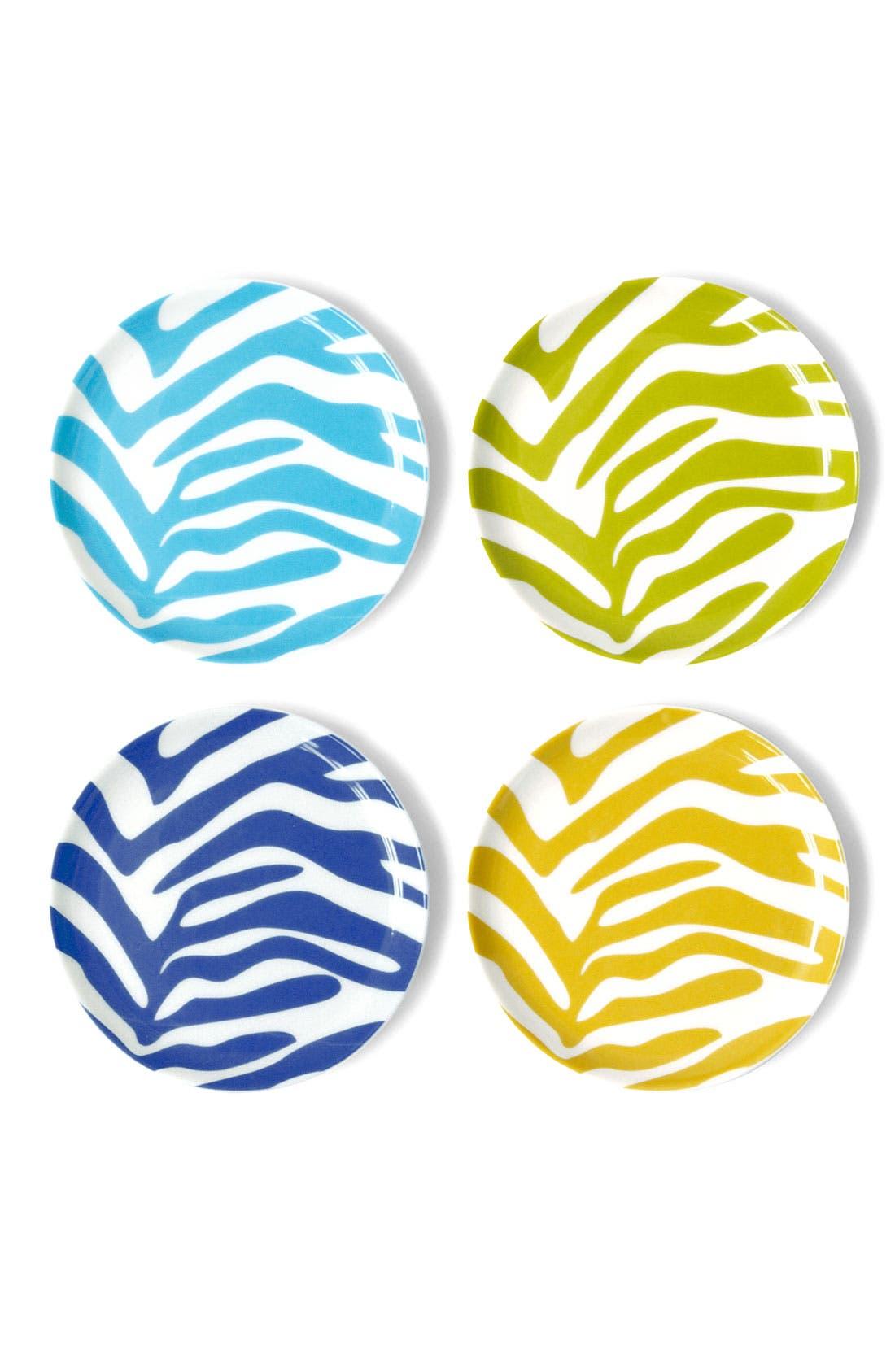 Alternate Image 1 Selected - Jonathan Adler 'Zebra' Porcelain Coasters