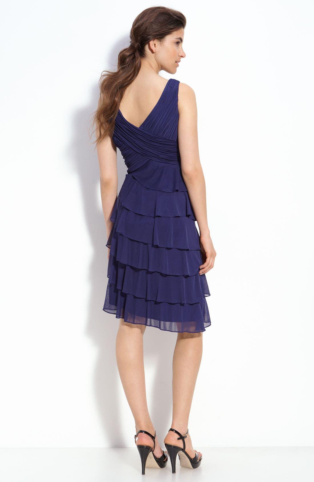 Alternate Image 2  - Patra Tiered Chiffon Sheath Dress