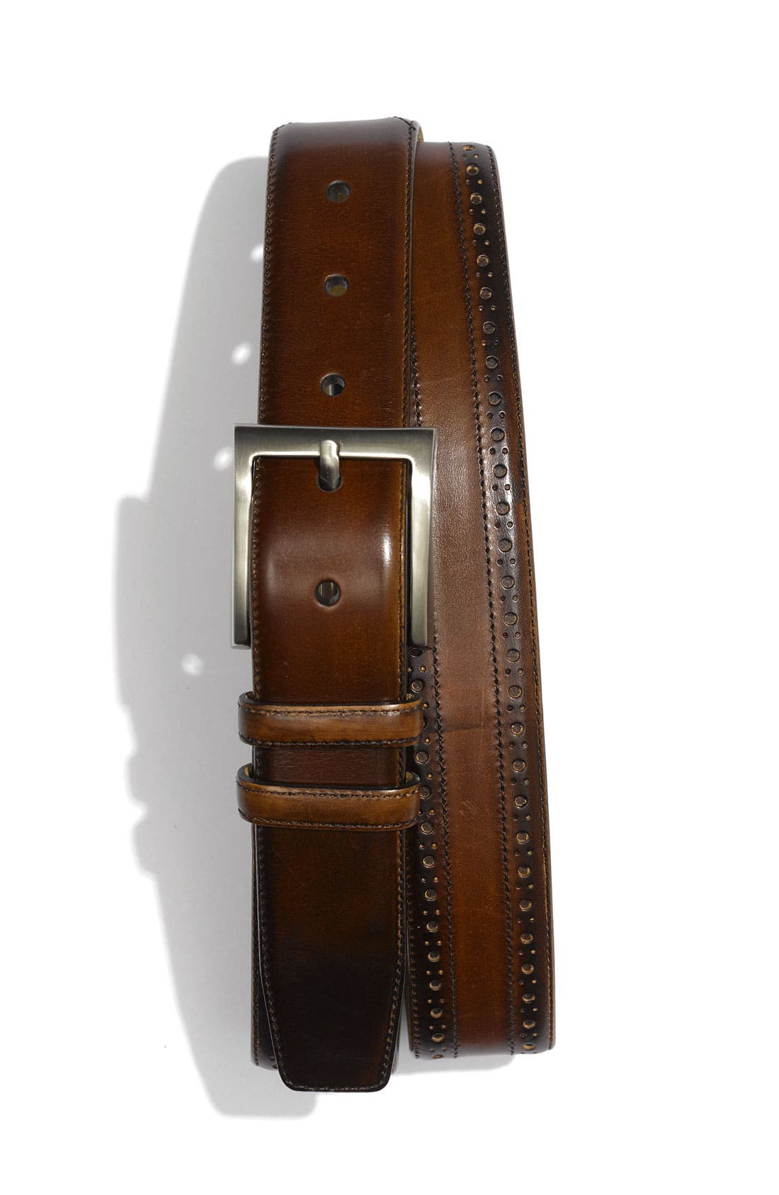 Main Image - Mezlan 'Parma' Brogue Detail Belt