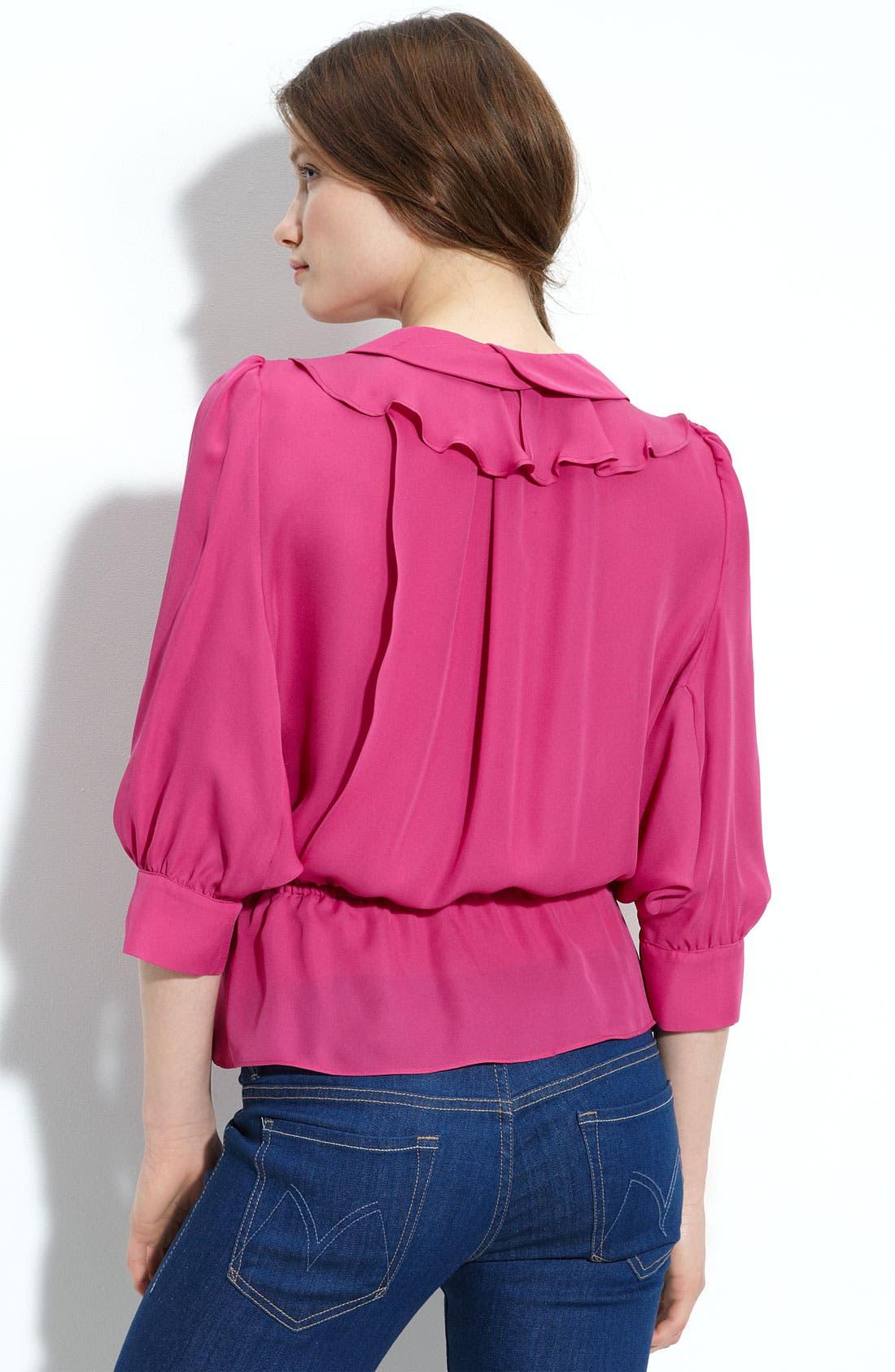 Alternate Image 2  - Parker Dolman Sleeve Silk Blouse