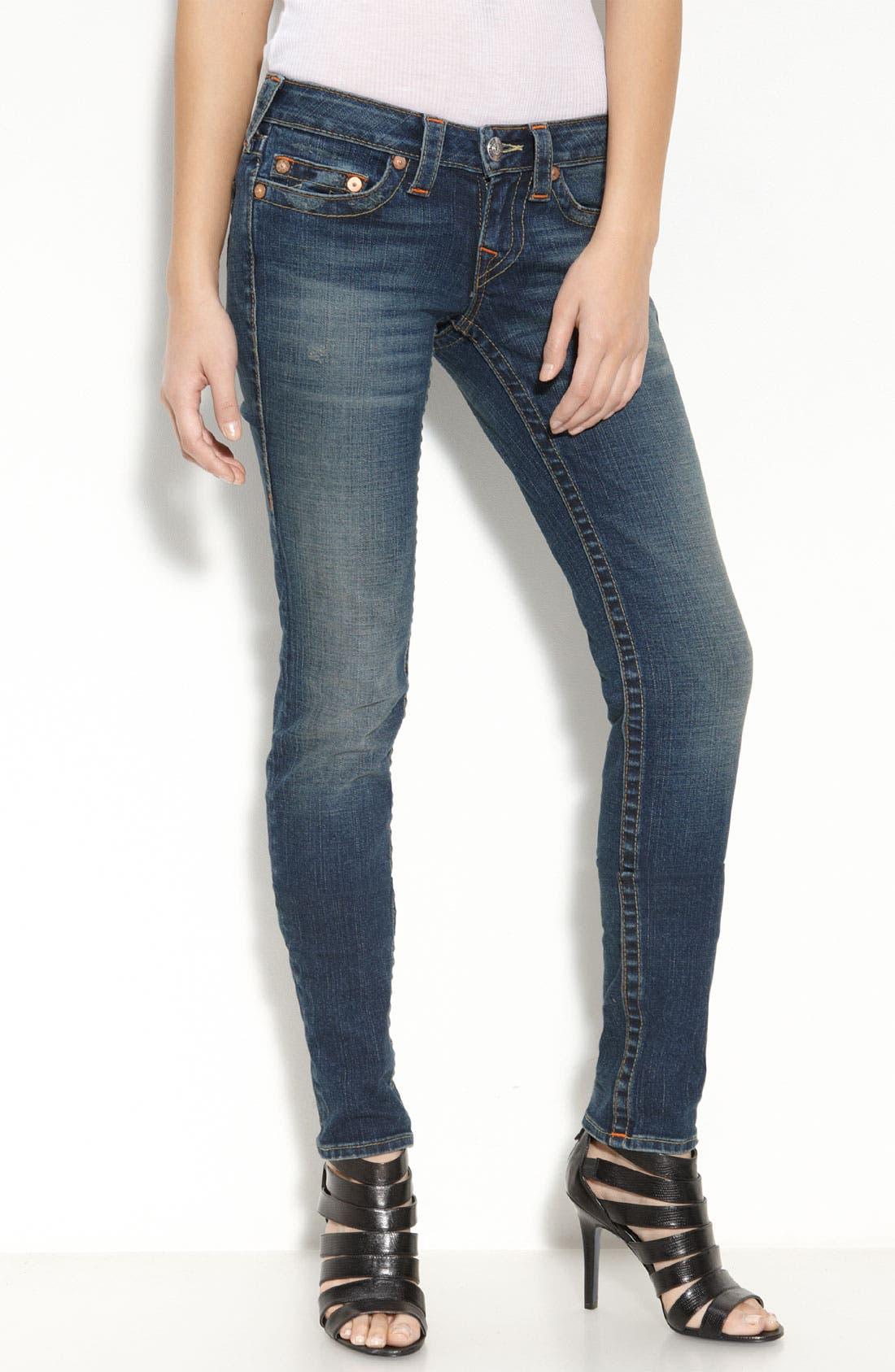 Alternate Image 2  - True Religion Brand Jeans 'Stella' Skinny Stretch Jeans (Dark Drifter)