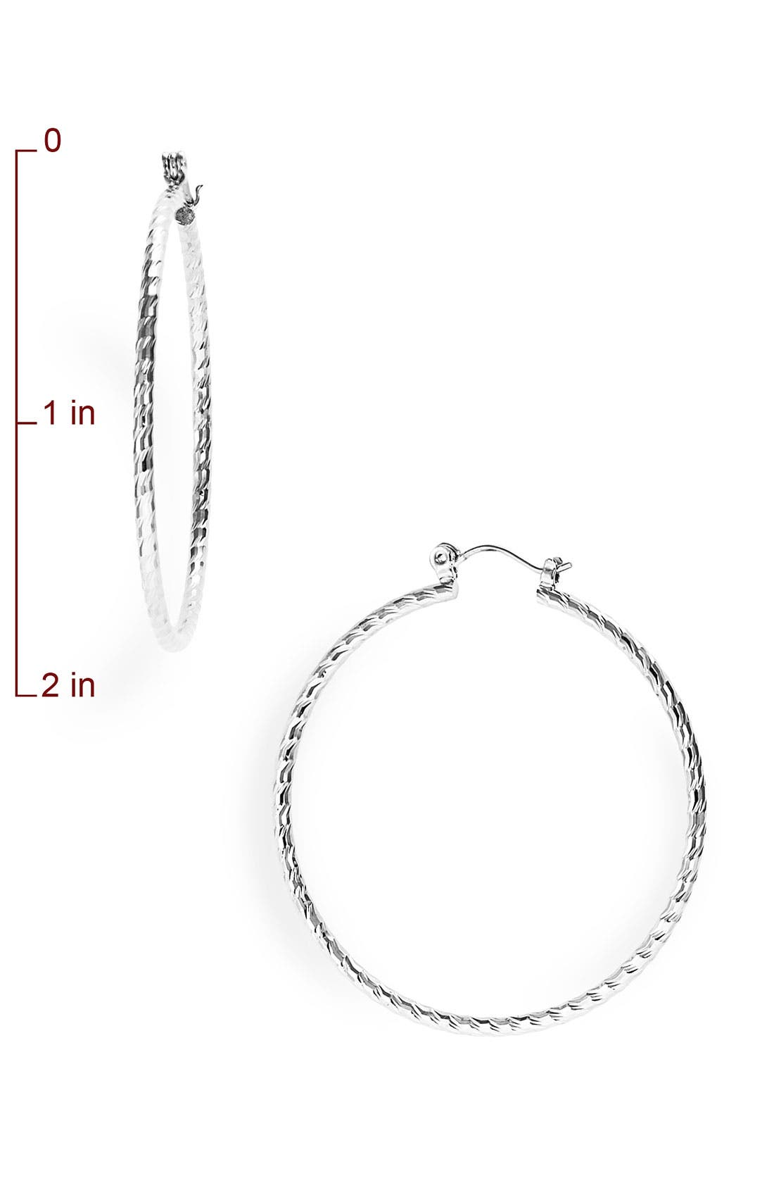 Alternate Image 2  - Nordstrom Twisted Medium Hoop Earrings