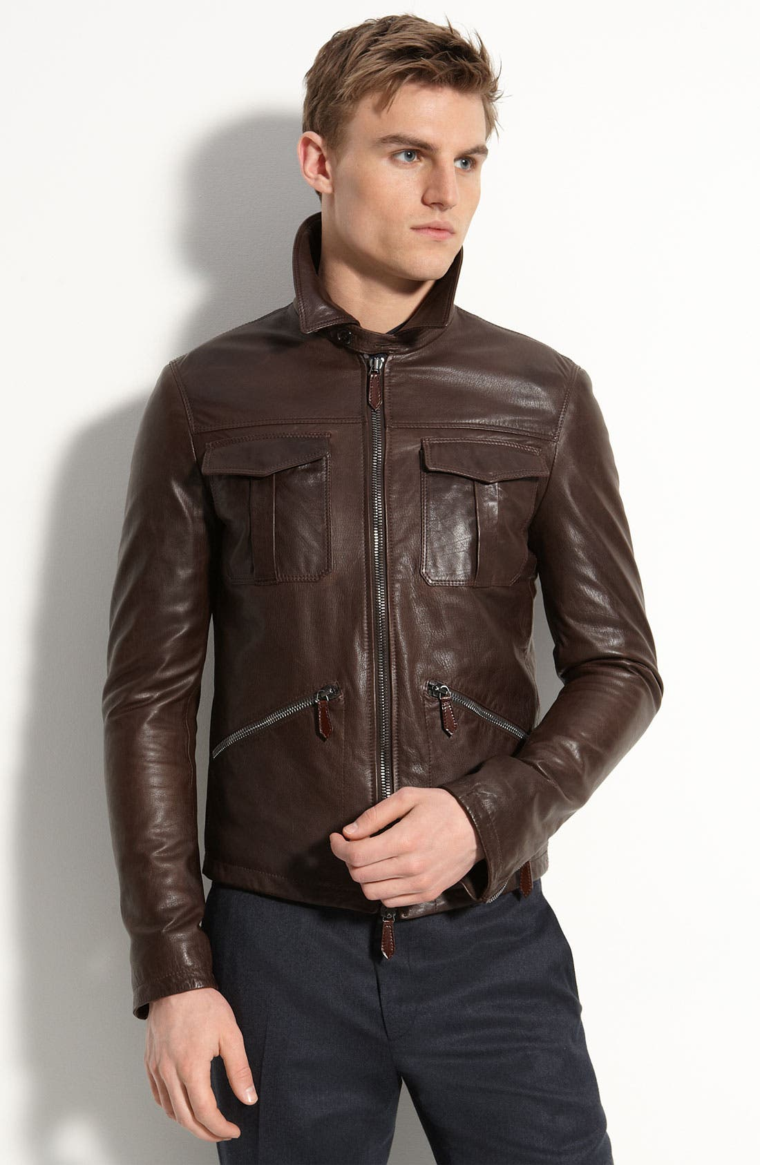 Alternate Image 2  - Burberry London Leather Bomber Jacket