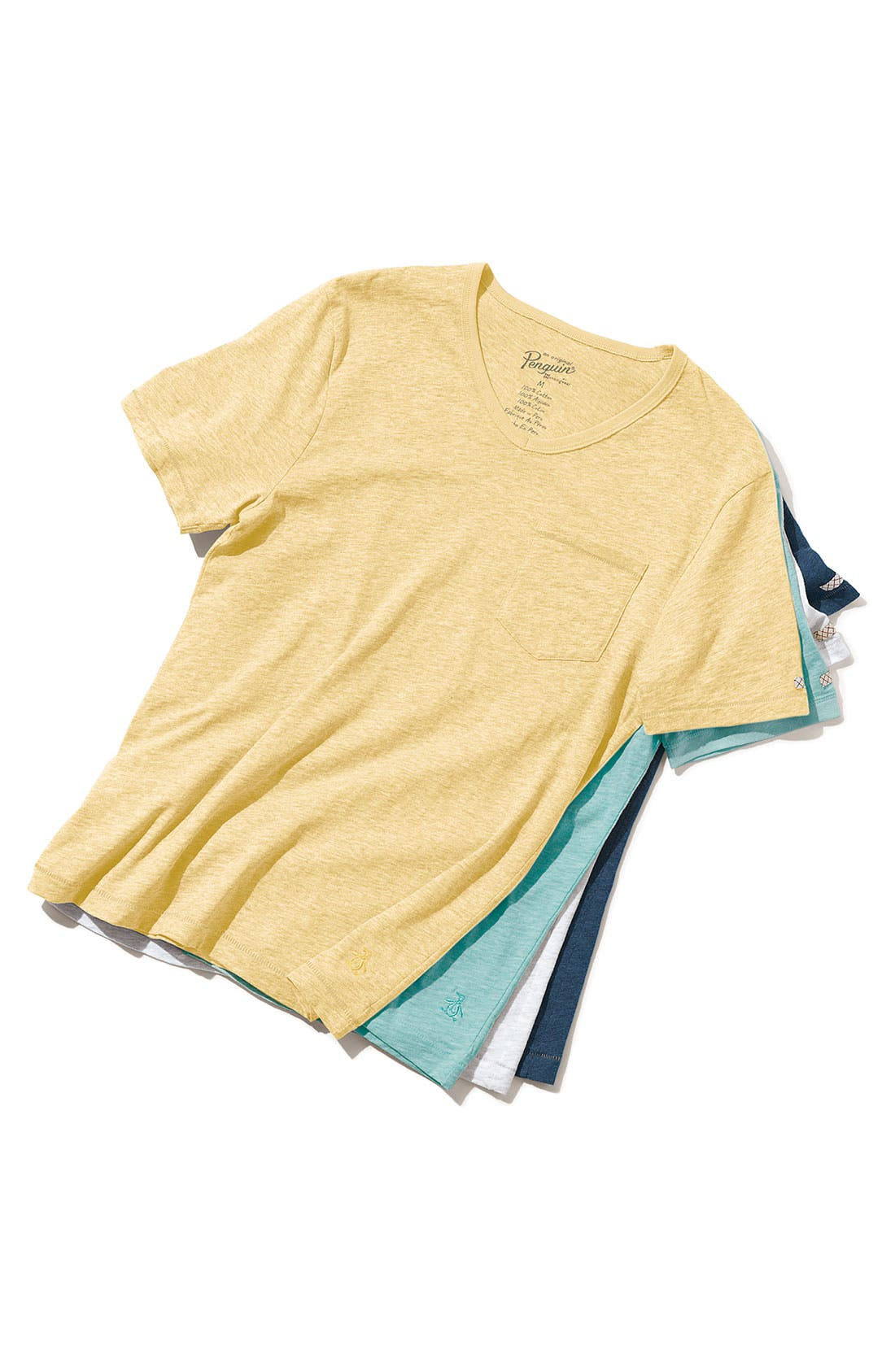 Alternate Image 3  - Original Penguin Trim Fit Heathered V-Neck T-Shirt