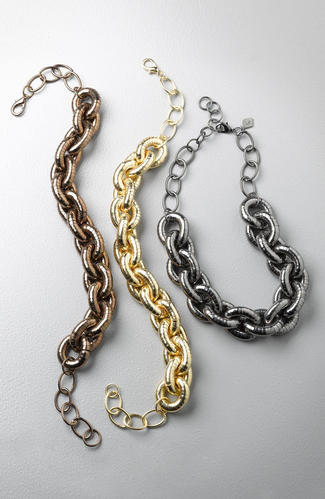 Alternate Image 4  - Sequin Textured Status Link Necklace