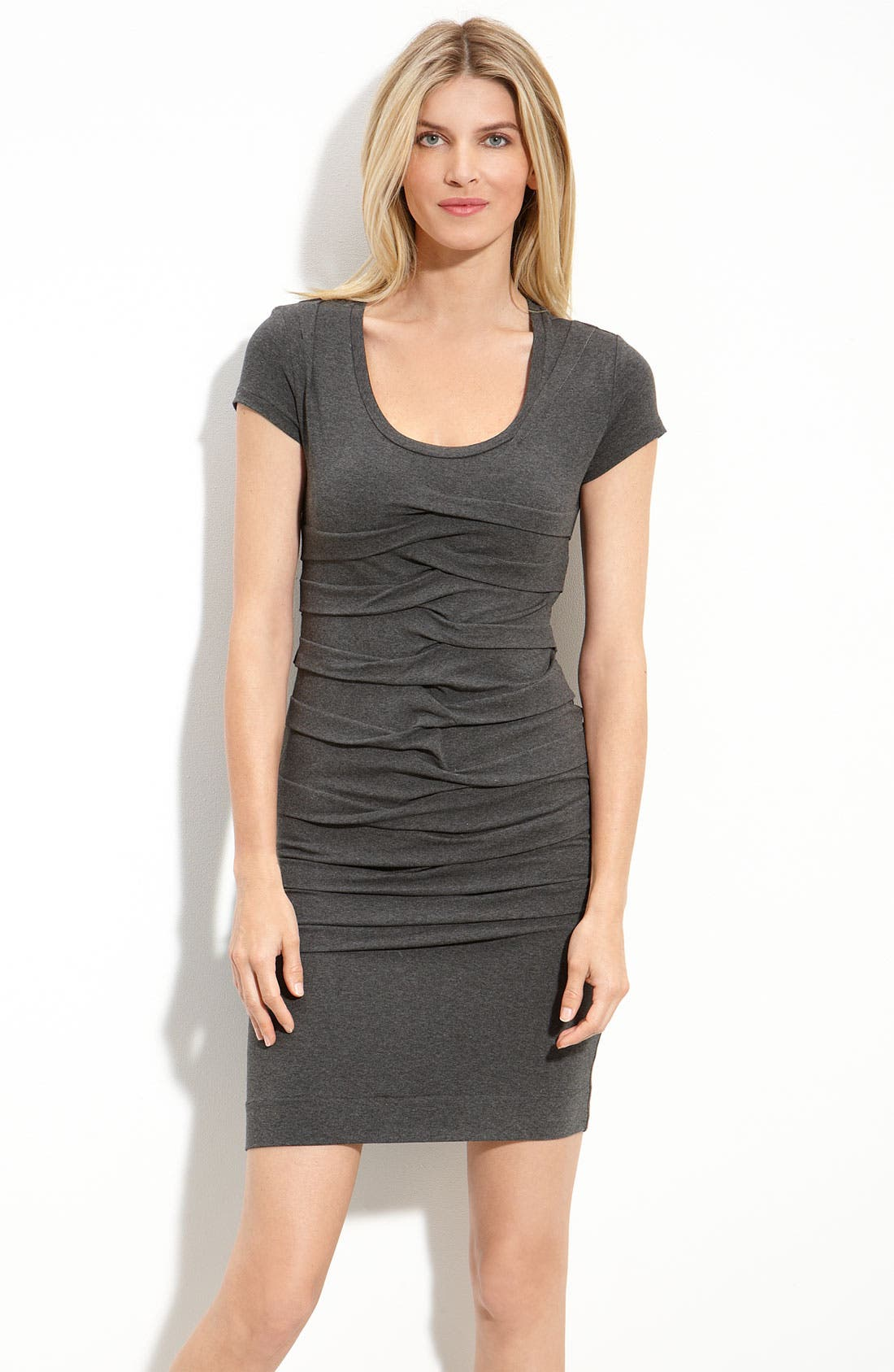 Alternate Image 1 Selected - Nicole Miller Pleated Stretch Jersey Dress