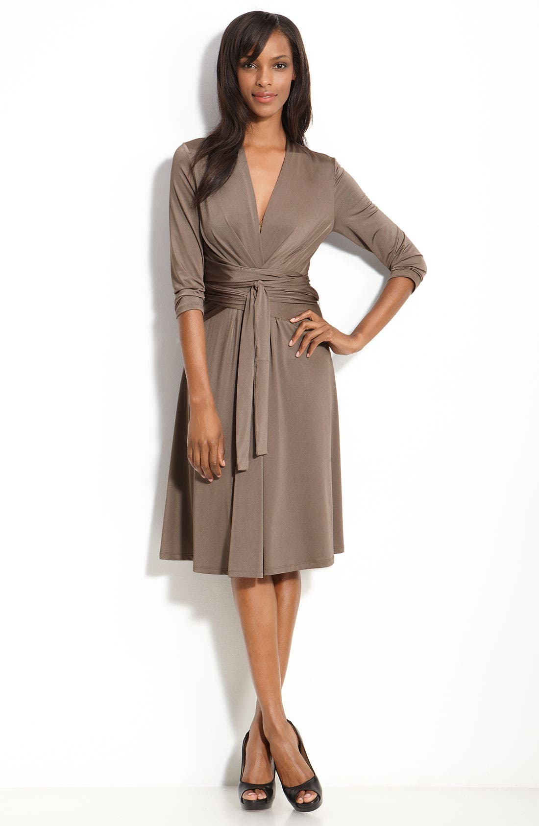 Main Image - Eliza J Faux Wrap Jersey Dress
