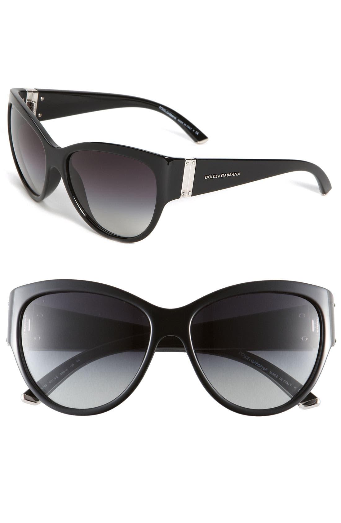 Main Image - Dolce&Gabbana Oversized Cat's Eye Sunglasses