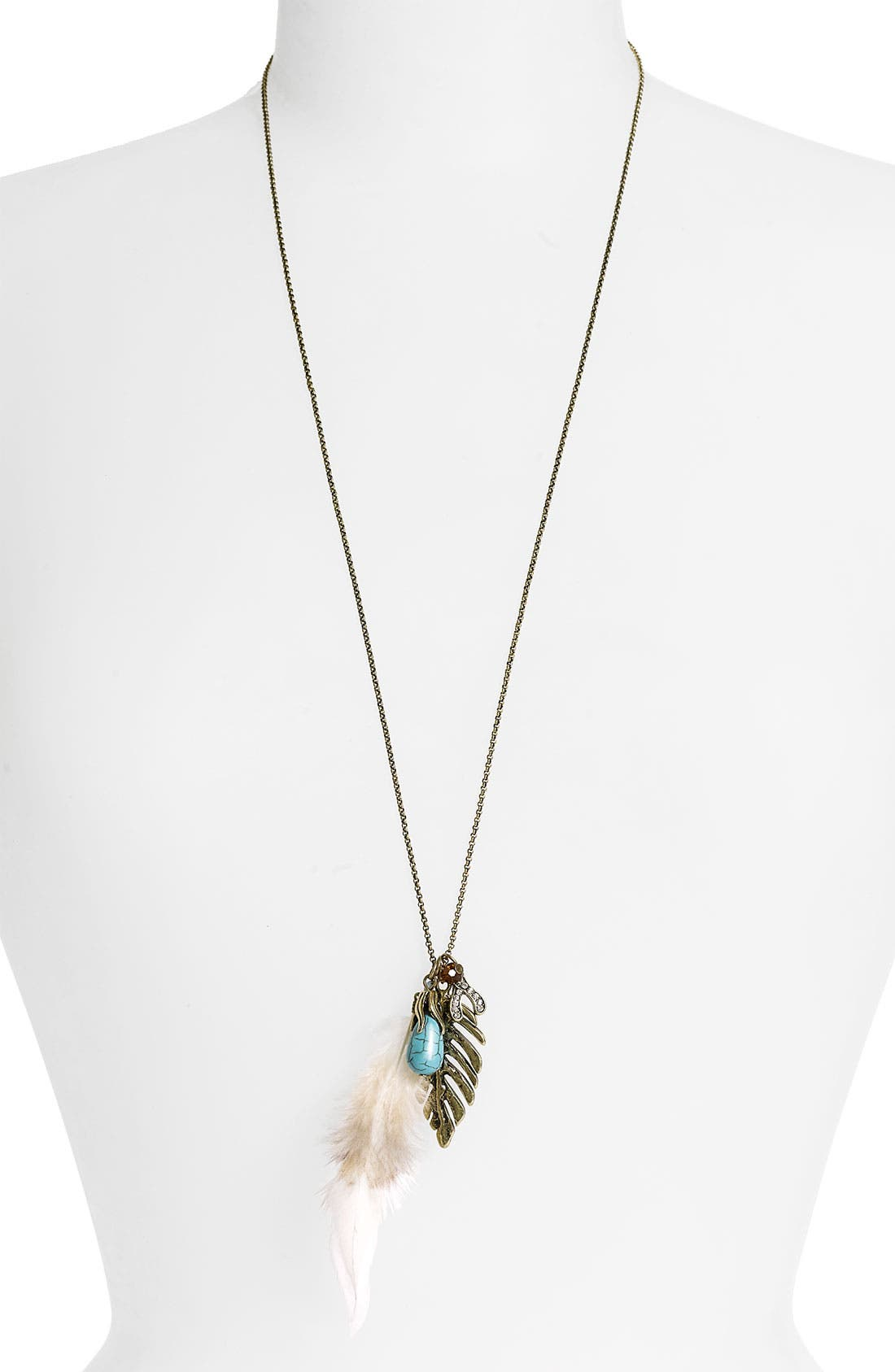 Main Image - Carole Leaf Charm Necklace