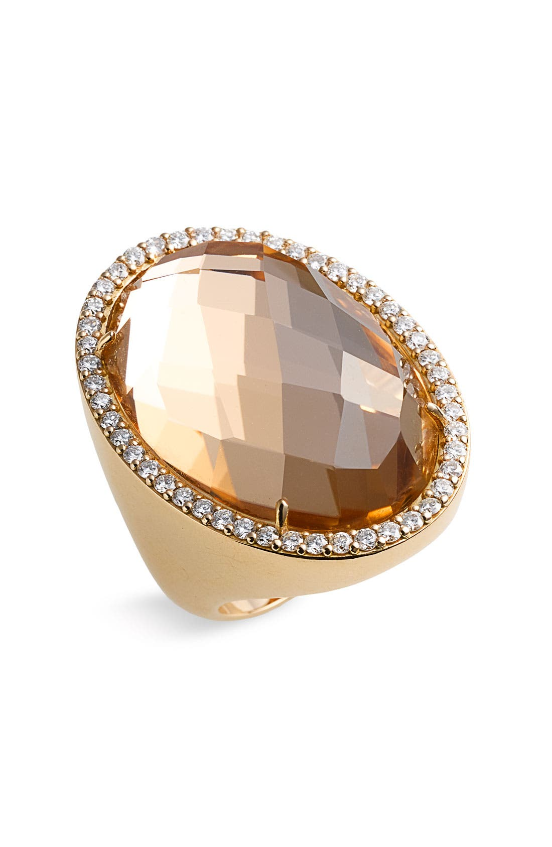 Main Image - Roberto Coin Rock Crystal & Diamond Statement Ring