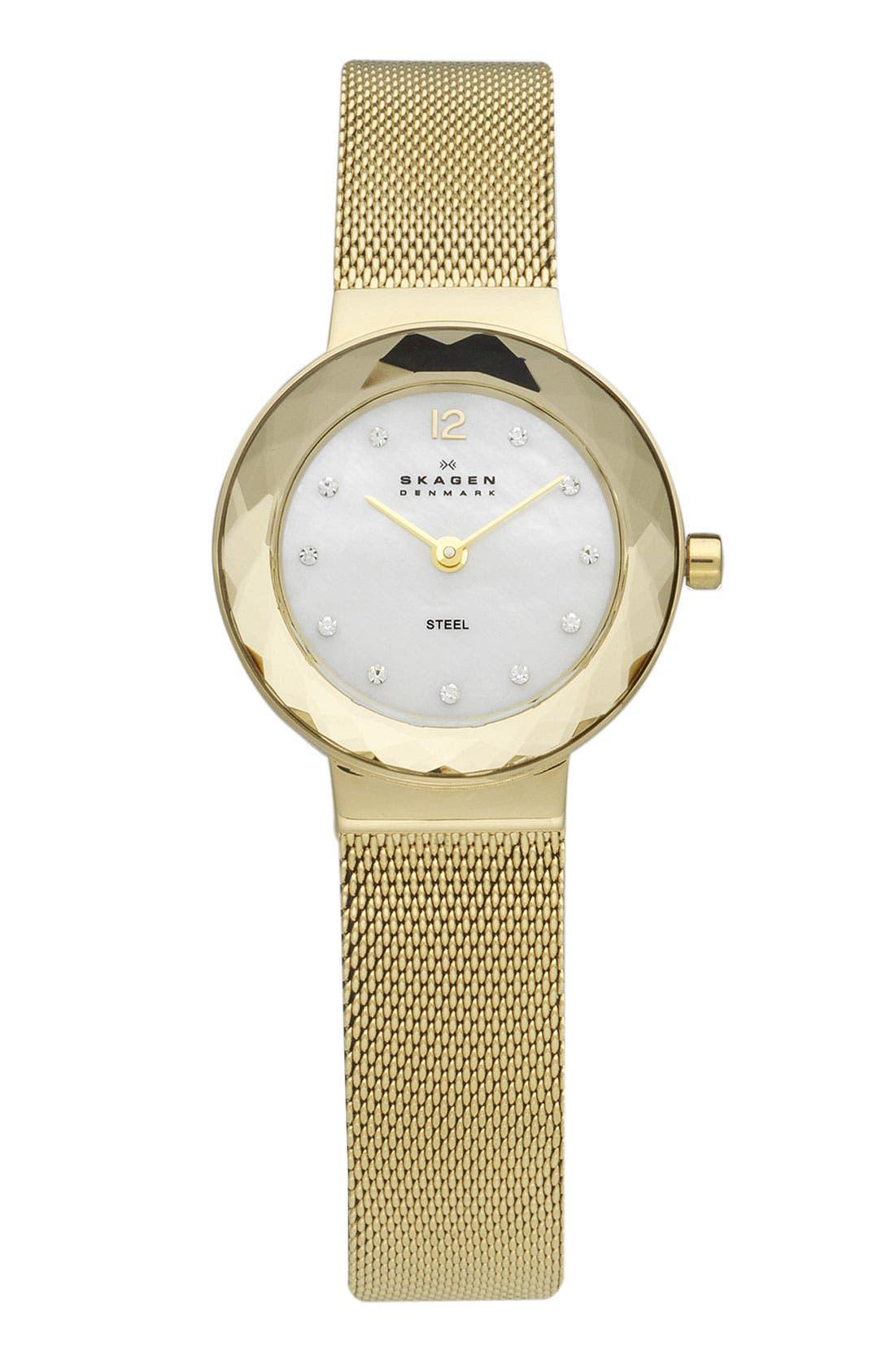 Alternate Image 1 Selected - Skagen Faceted Glass Bezel Watch
