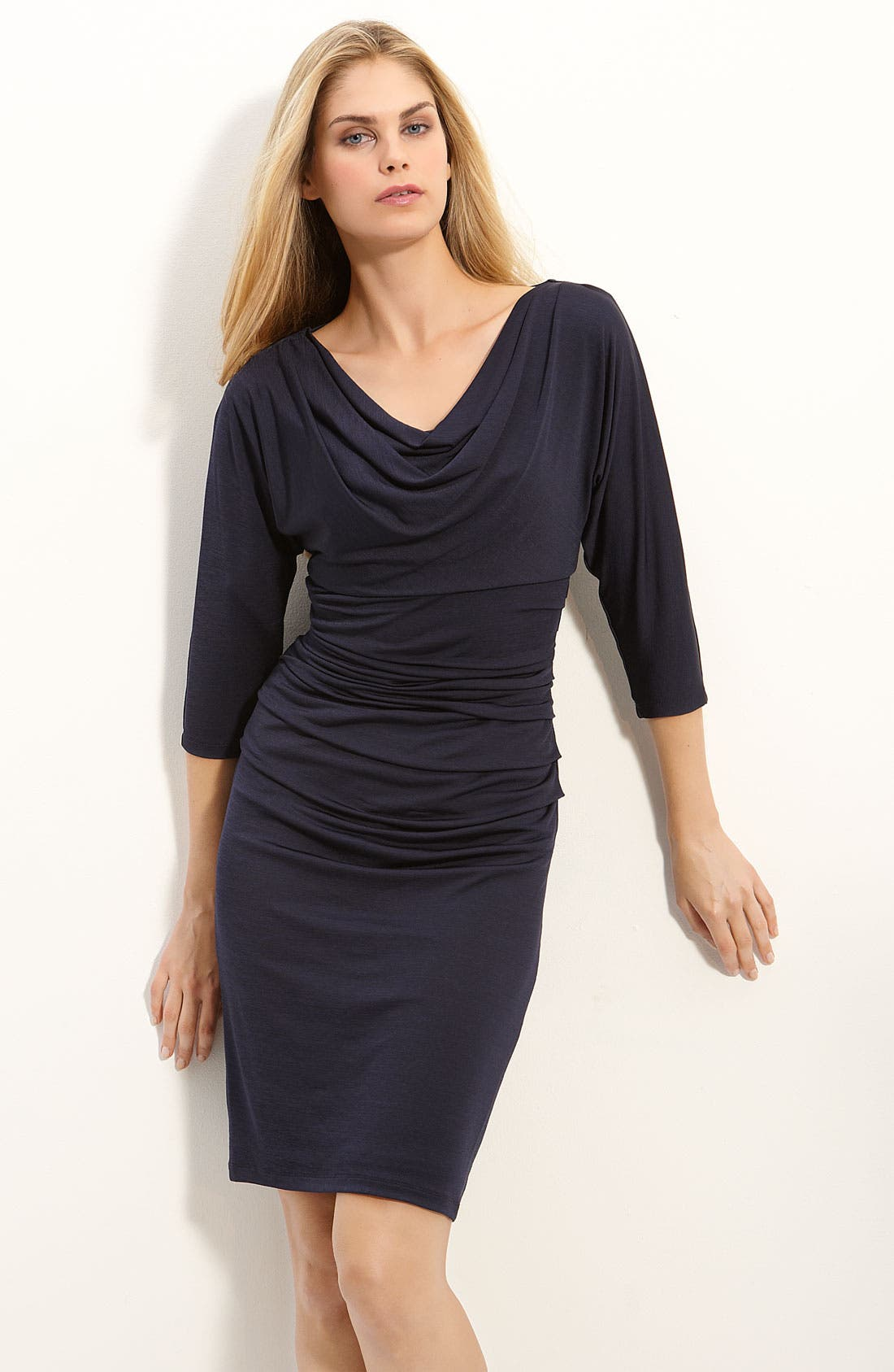 Alternate Image 1 Selected - Suzi Chin for Maggy Boutique Cowl Neck Jersey Dress