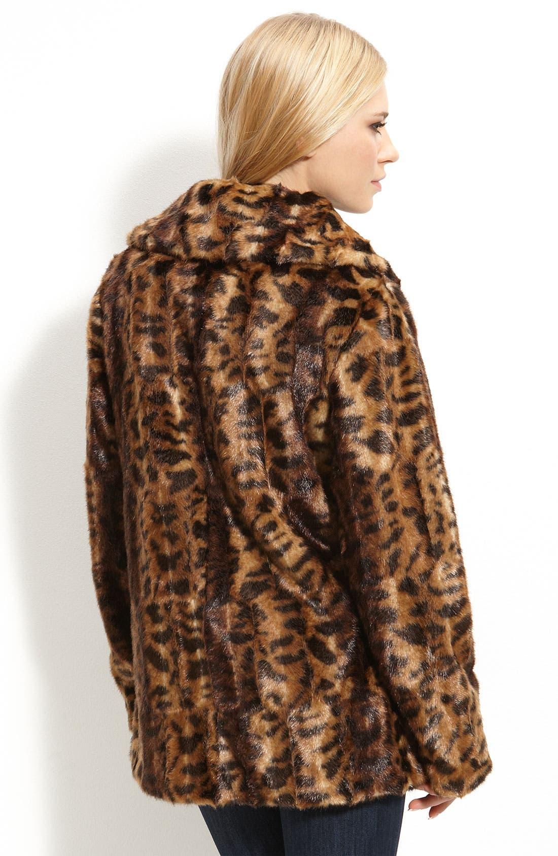 Alternate Image 2  - Calvin Klein Faux Fur Jacket