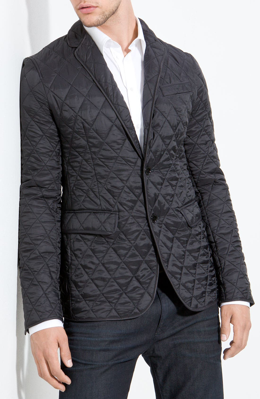 Main Image - Burberry Quilted Blazer