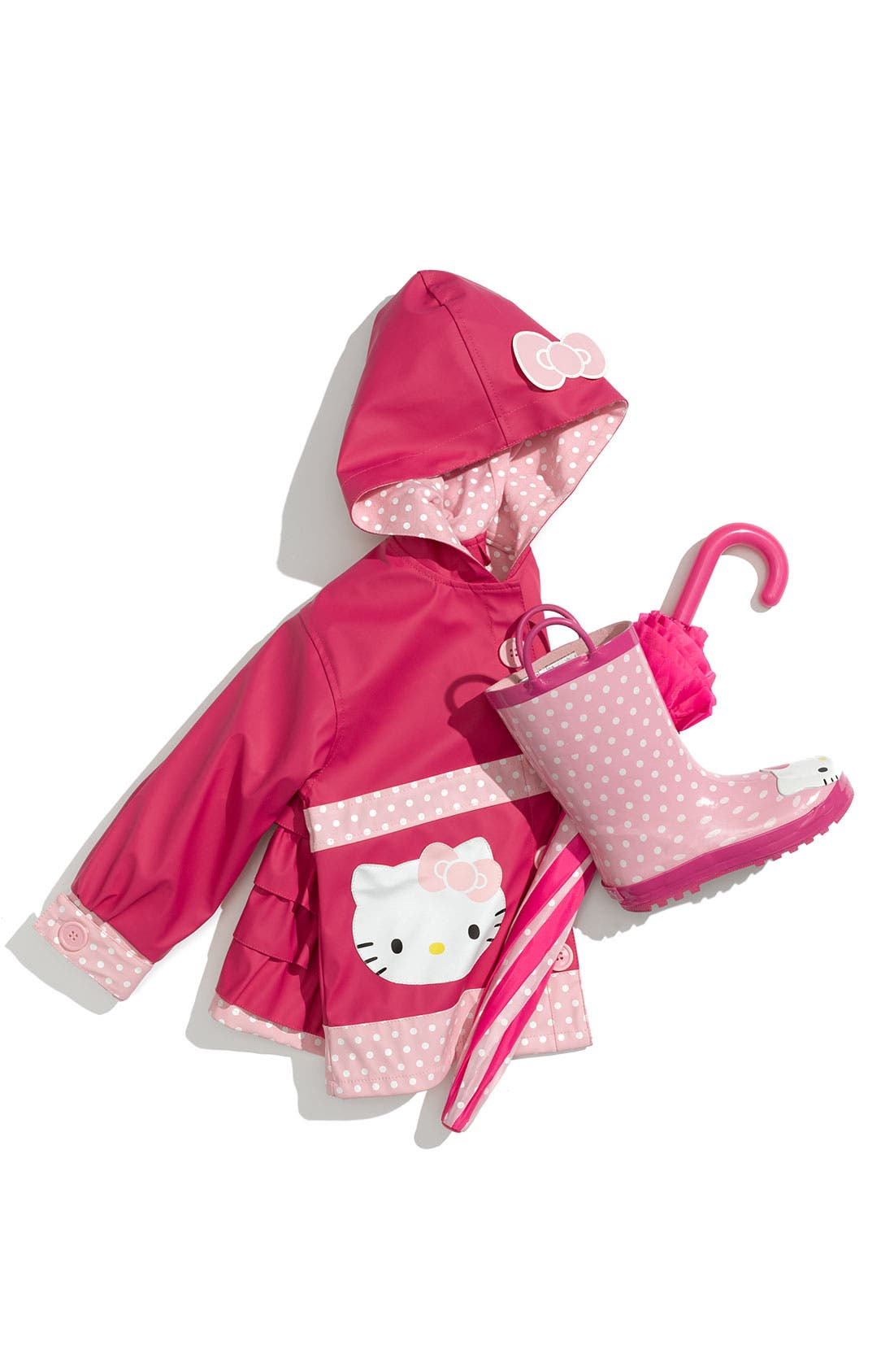 Alternate Image 3  - Western Chief 'Hello Kitty® Ruffles' Raincoat (Toddler Girls & Little Girls)