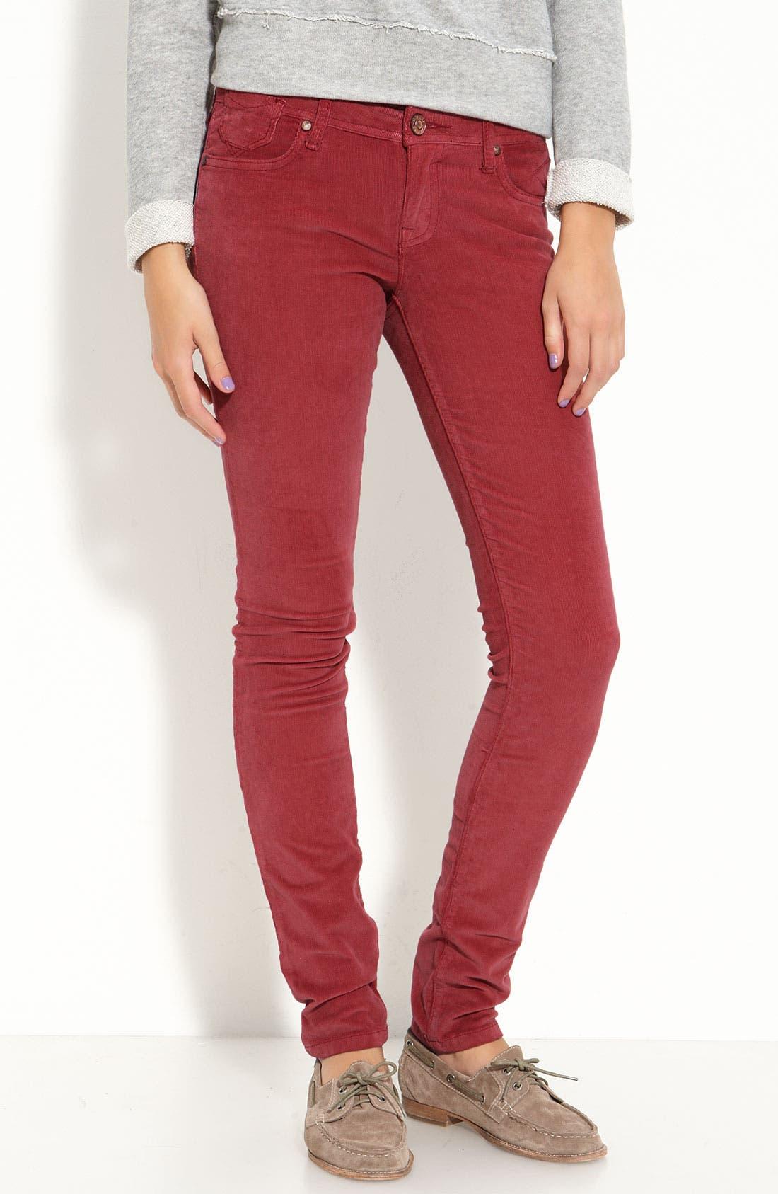 Alternate Image 2  - Vigoss 'Soho' Skinny Stretch Corduroy Pants (Juniors)