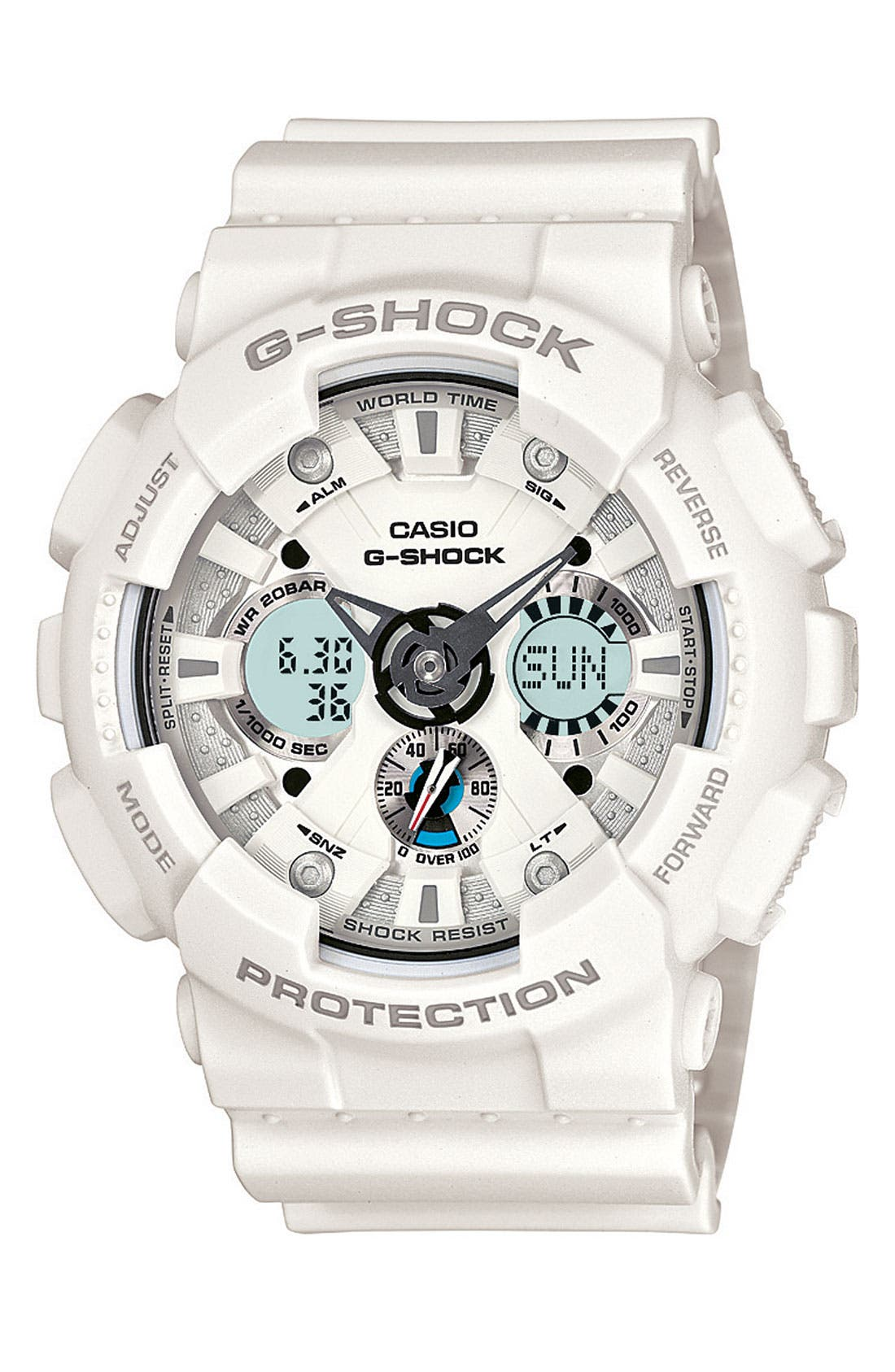 Main Image - G-Shock 'X-Large' Dual Movement Watch, 55mm x 51mm