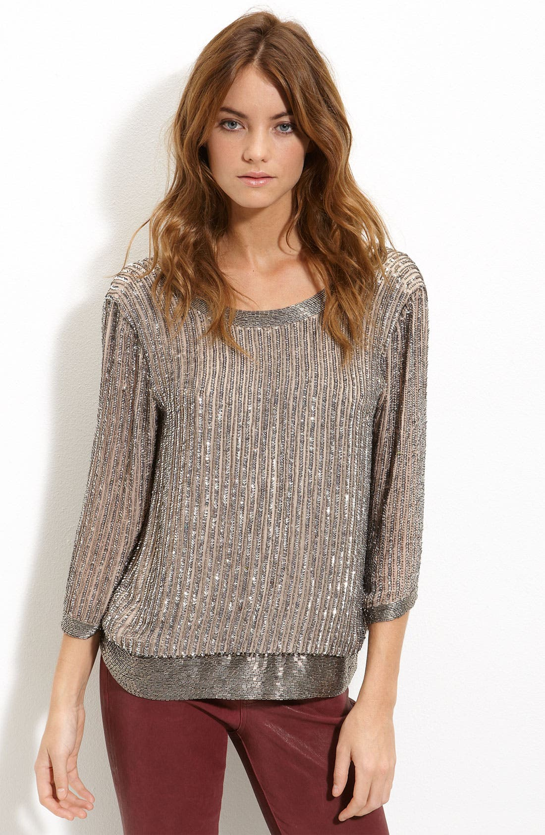 Main Image - Parker Sequin Open Back Blouse