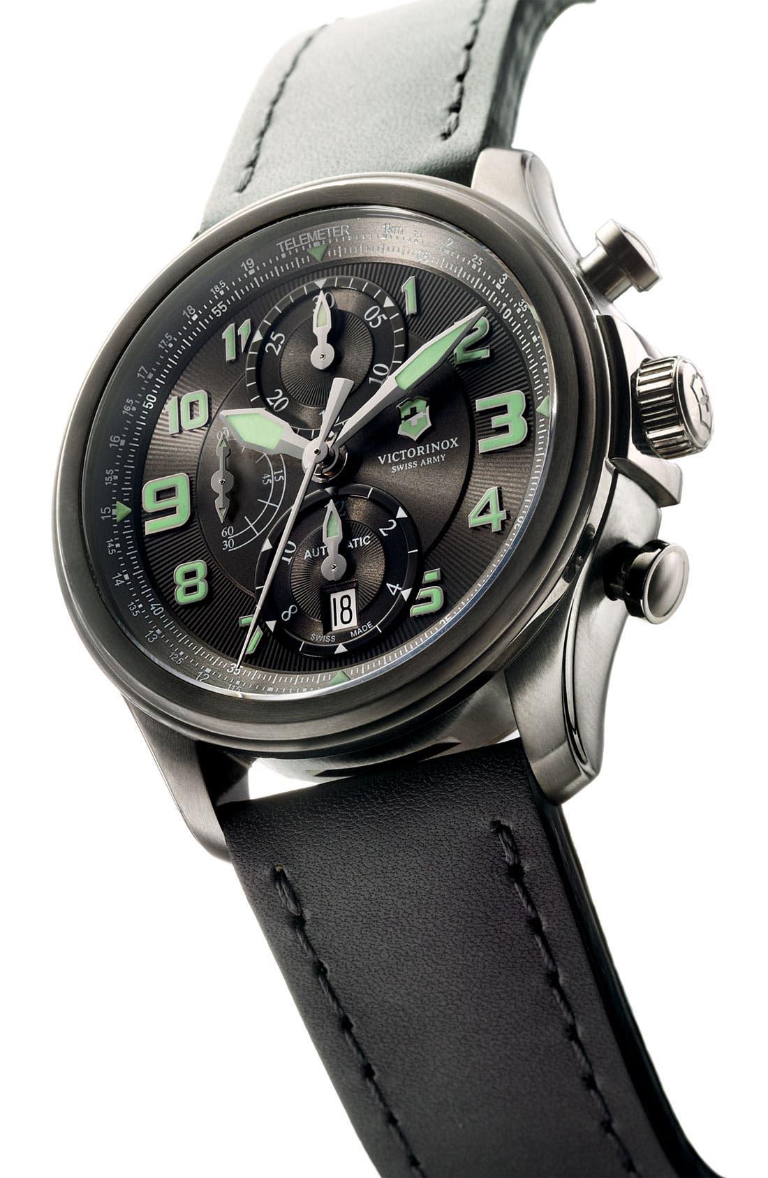 Alternate Image 2  - Victorinox Swiss Army® 'Infantry Vintage' Automatic Chronograph Watch