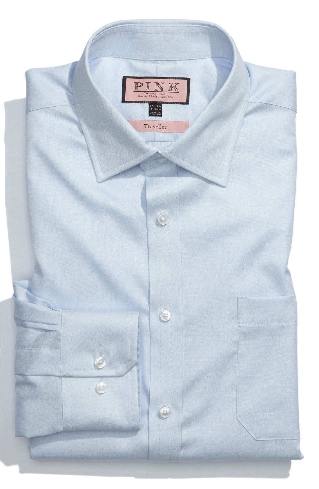 Alternate Image 1 Selected - Thomas Pink Classic Fit Traveller Dress Shirt