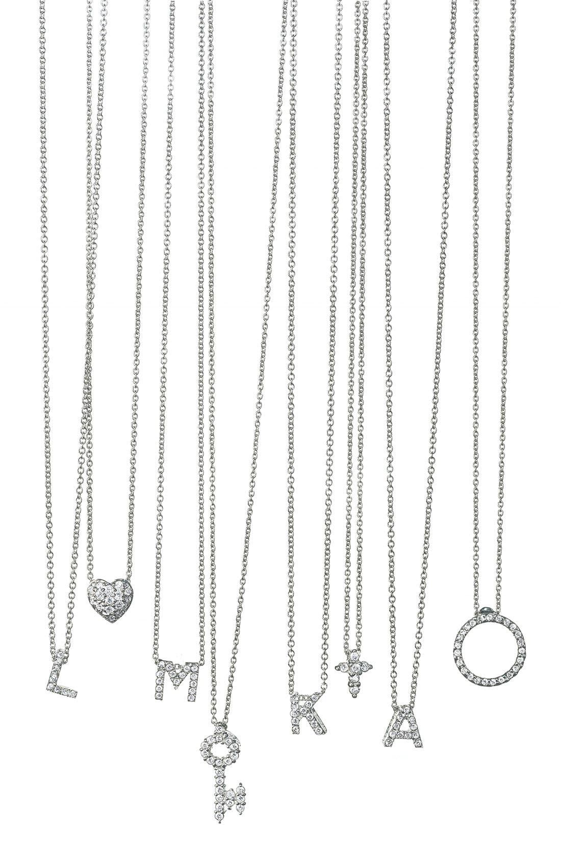 Alternate Image 3  - Roberto Coin 'Tiny Treasures' Small Diamond Circle Pendant Necklace