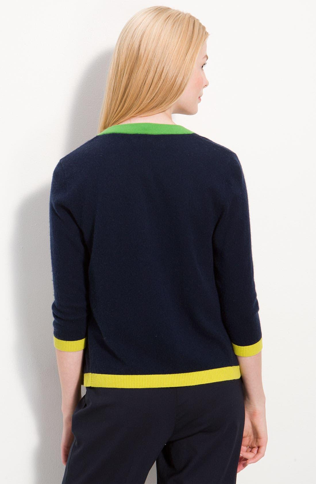 Alternate Image 2  - kate spade new york colorblock cashmere cardigan