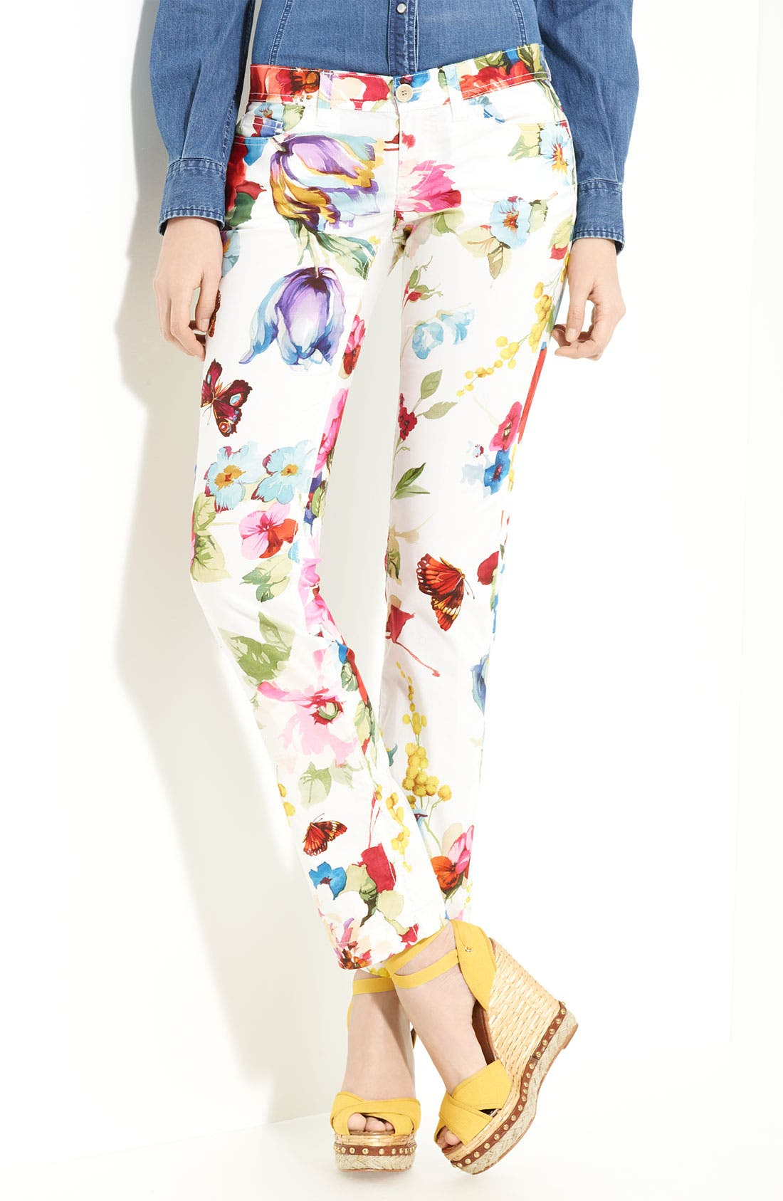 Alternate Image 1 Selected - Dolce&Gabbana Print Stretch Cotton Pants