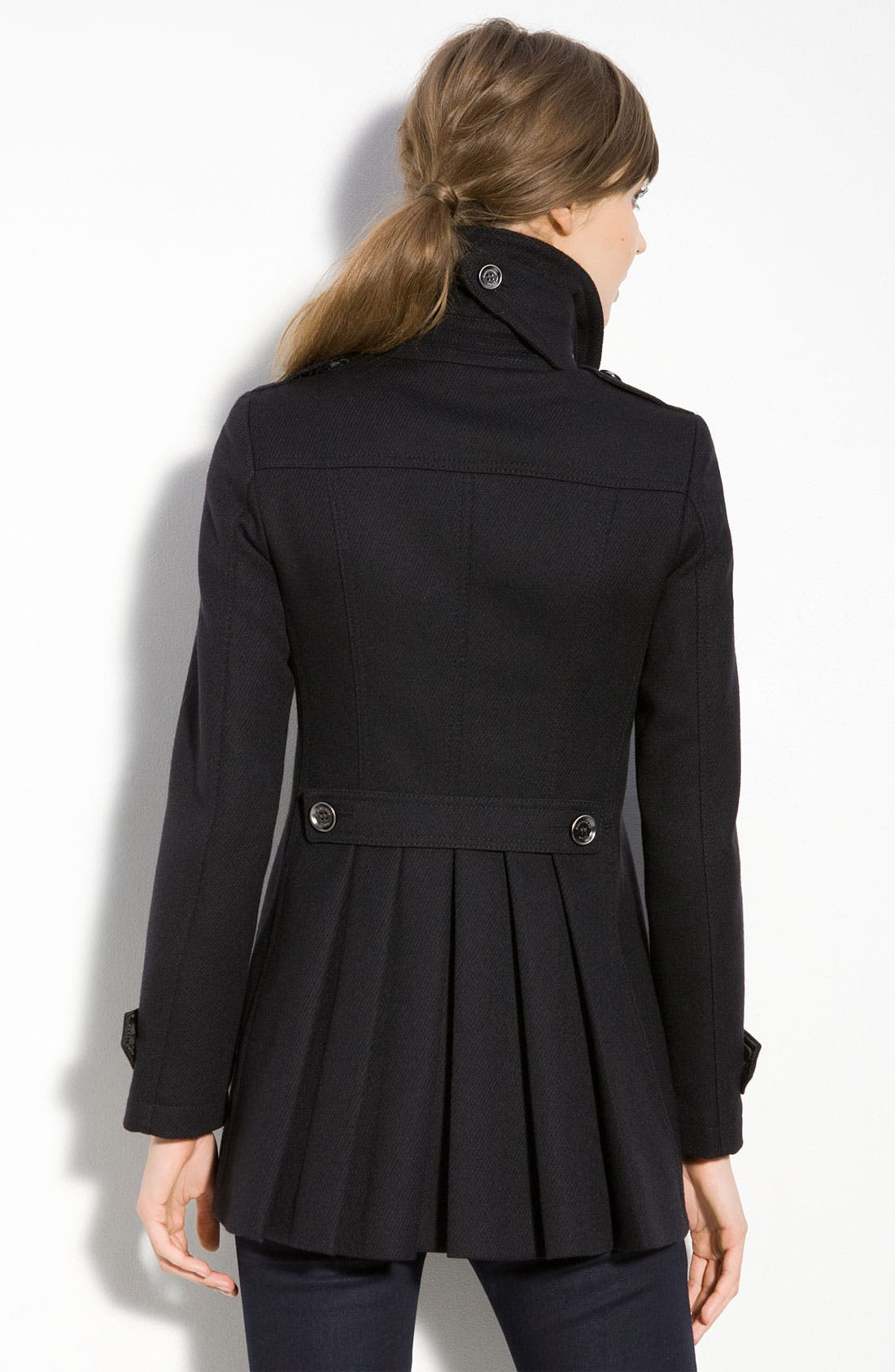 Alternate Image 2  - Burberry Brit Double Breasted Coat
