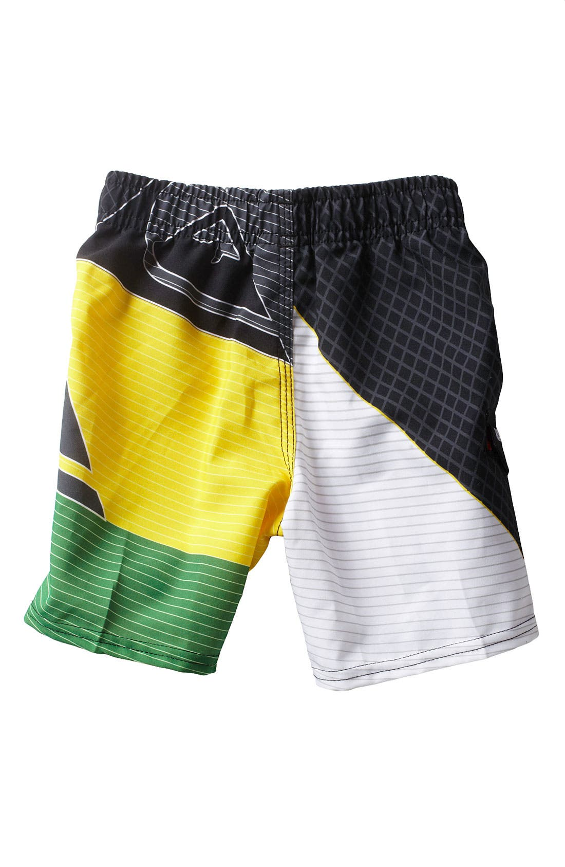 Alternate Image 2  - Quiksilver 'Finish Line' Volley Shorts (Toddler)