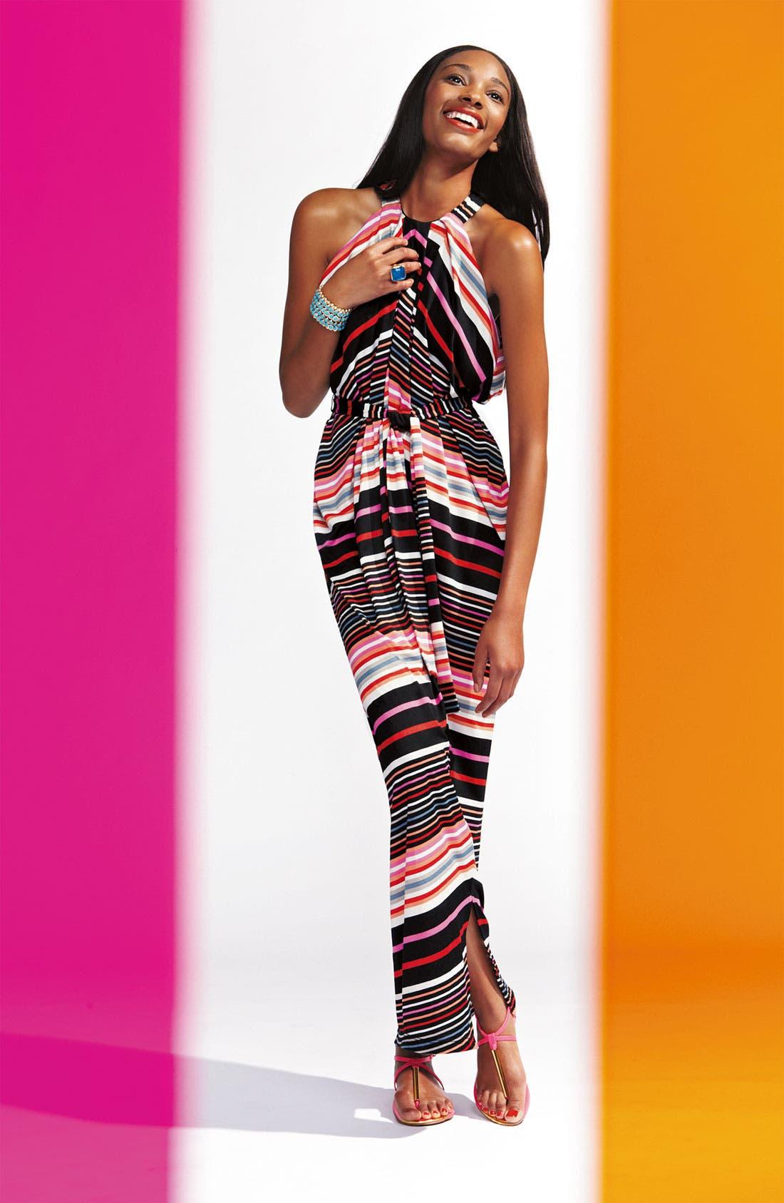 Alternate Image 4  - Suzi Chin for Maggy Boutique Stripe Jersey Halter Dress