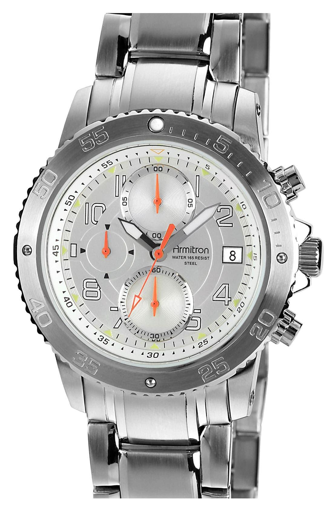 Main Image - Armitron Chronograph Bracelet Watch, 42mm