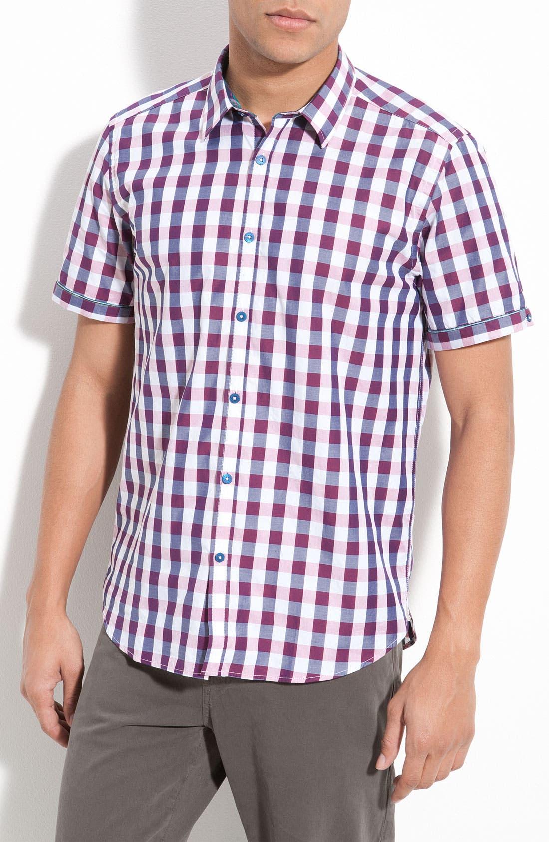 Main Image - Ted Baker London Check Plaid Woven Shirt